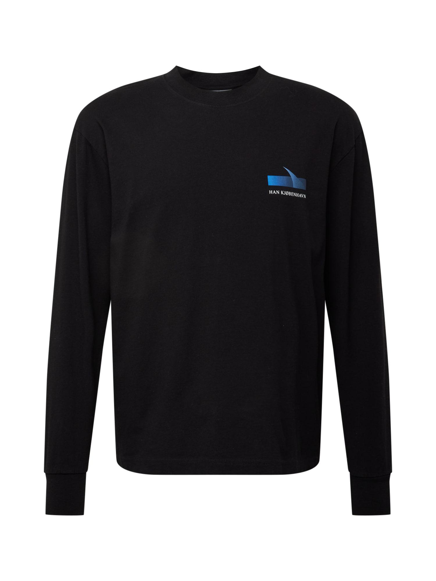 Han Kjøbenhavn Marškinėliai turkio spalva / juoda / balta / šviesiai pilka / mėlyna dūmų spalva