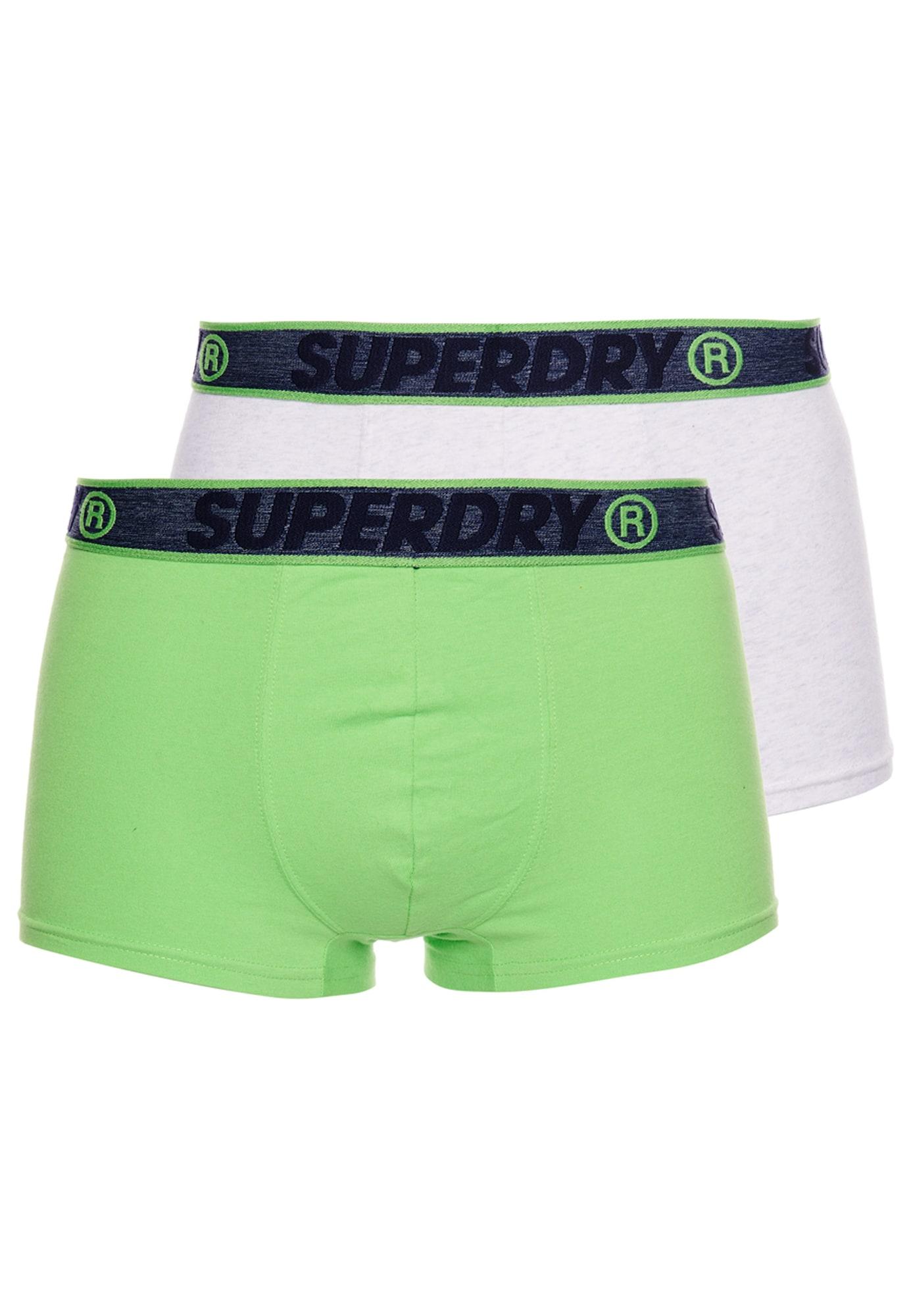 Superdry Boxer trumpikės balta / žalia / juoda