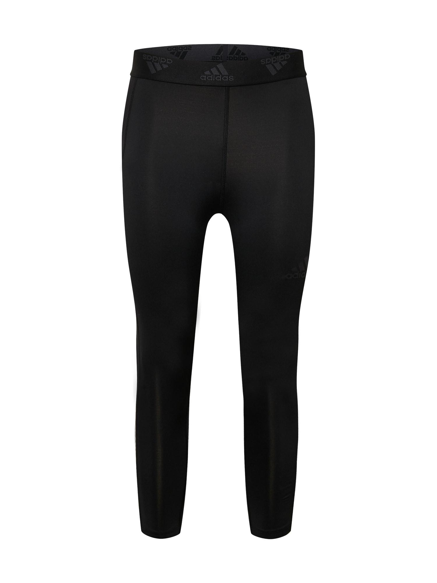 ADIDAS PERFORMANCE Sportinės kelnės juoda / balta / tamsiai pilka
