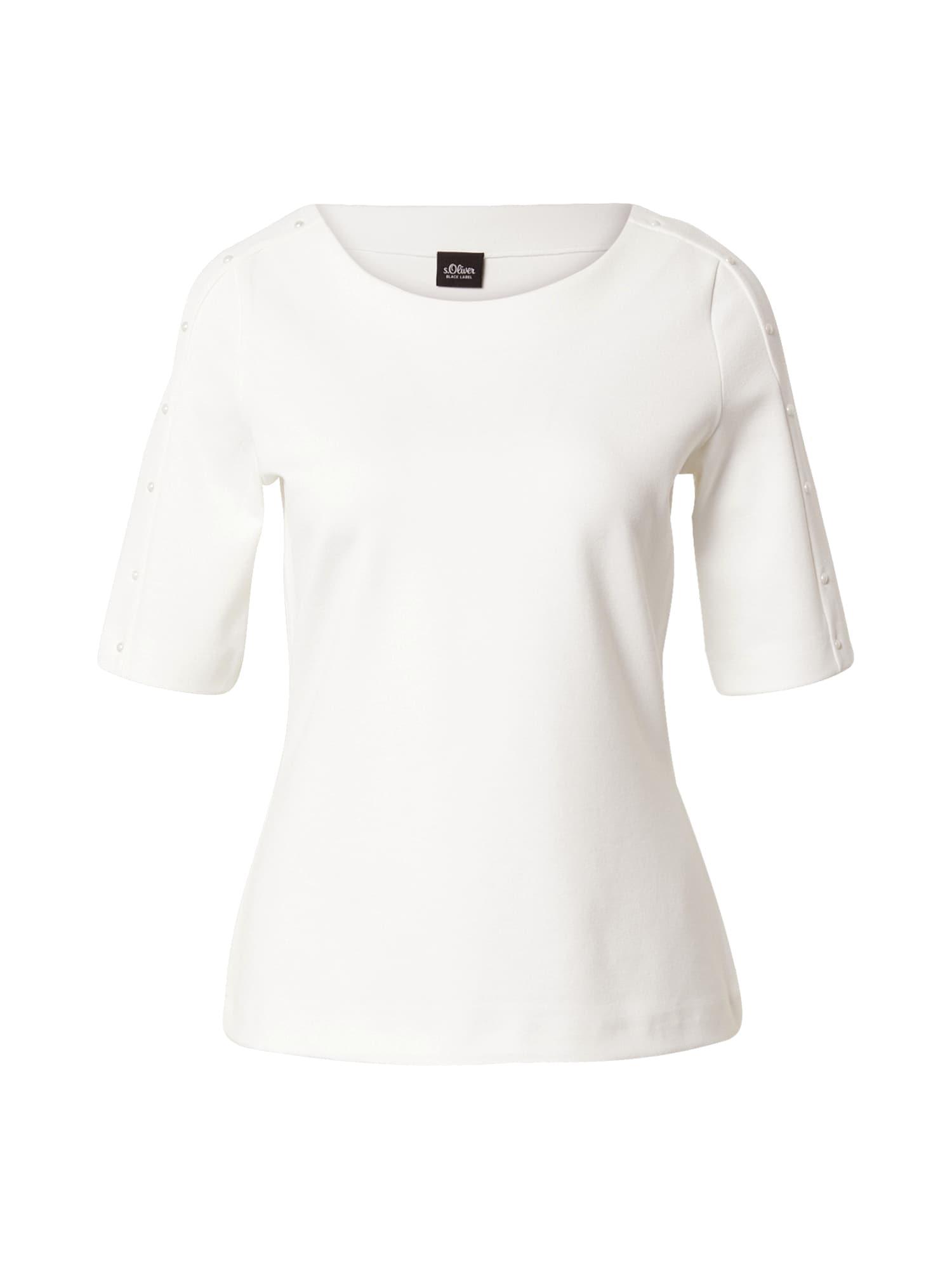 s.Oliver BLACK LABEL Marškinėliai balta