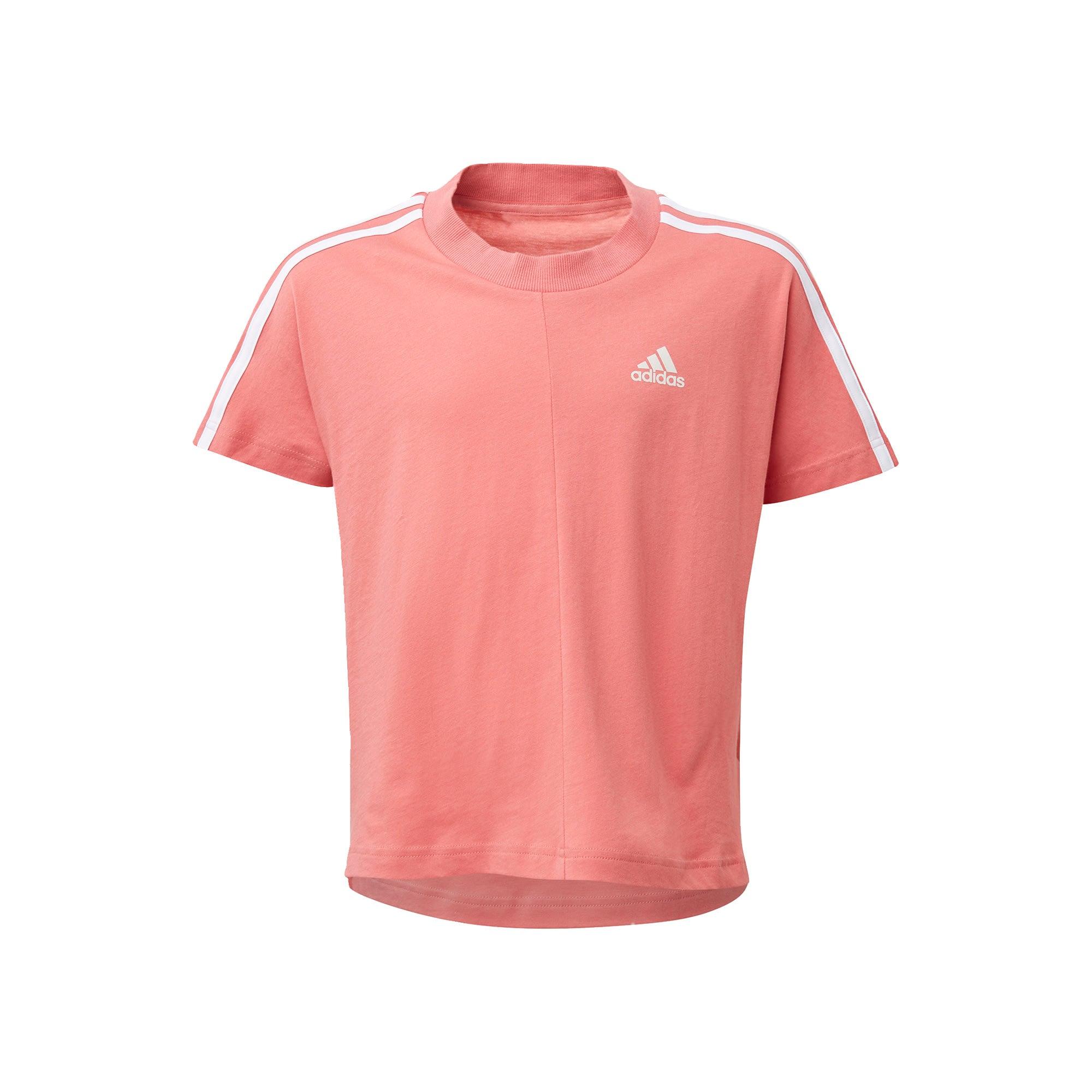 ADIDAS PERFORMANCE Sportiniai marškinėliai balta / šviesiai rožinė