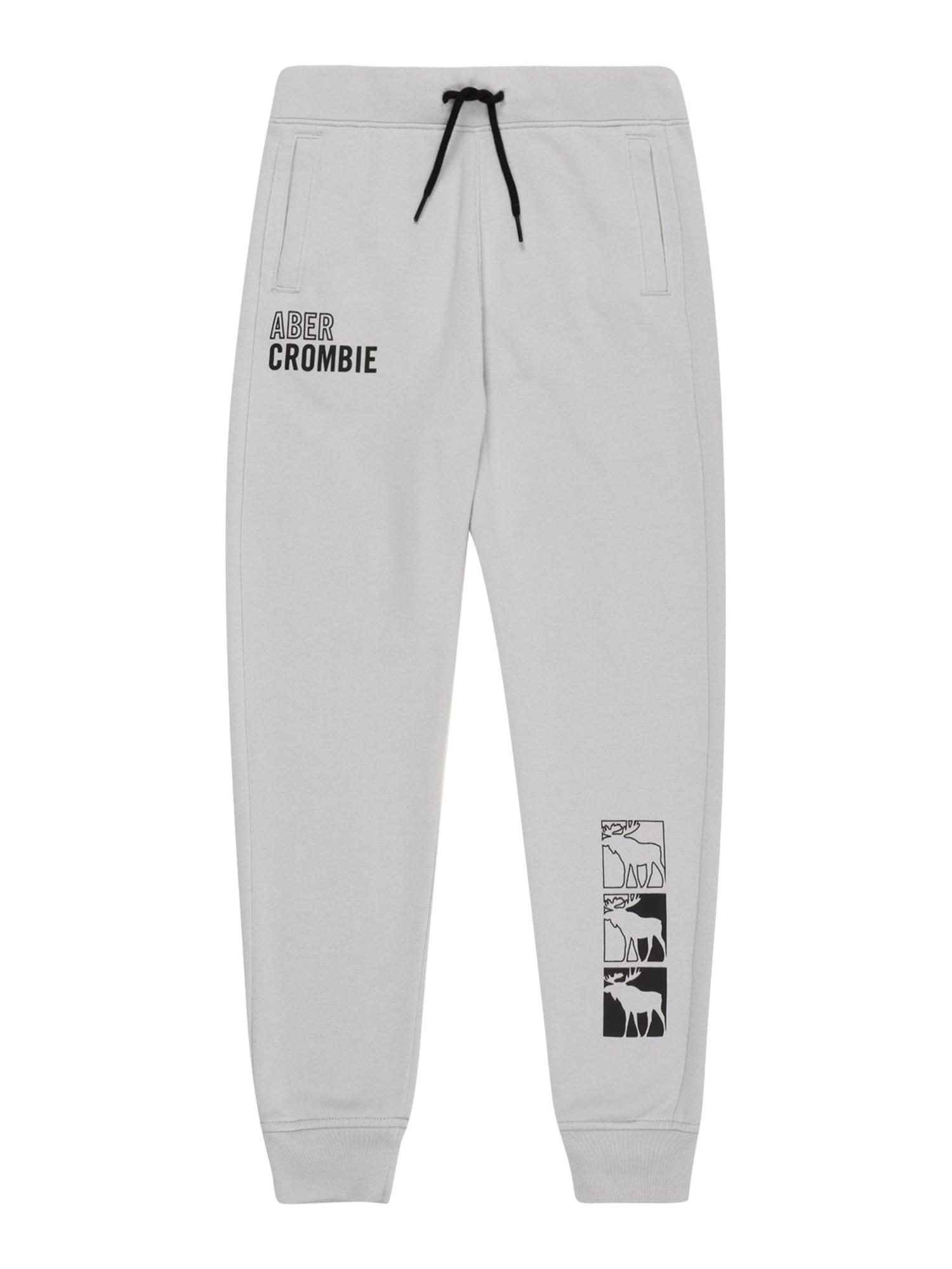 Abercrombie & Fitch Kelnės pilka / juoda