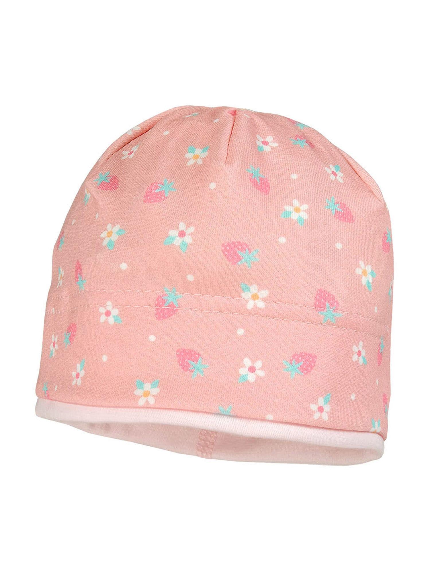 MAXIMO Megzta kepurė mišrios spalvos / ryškiai rožinė spalva