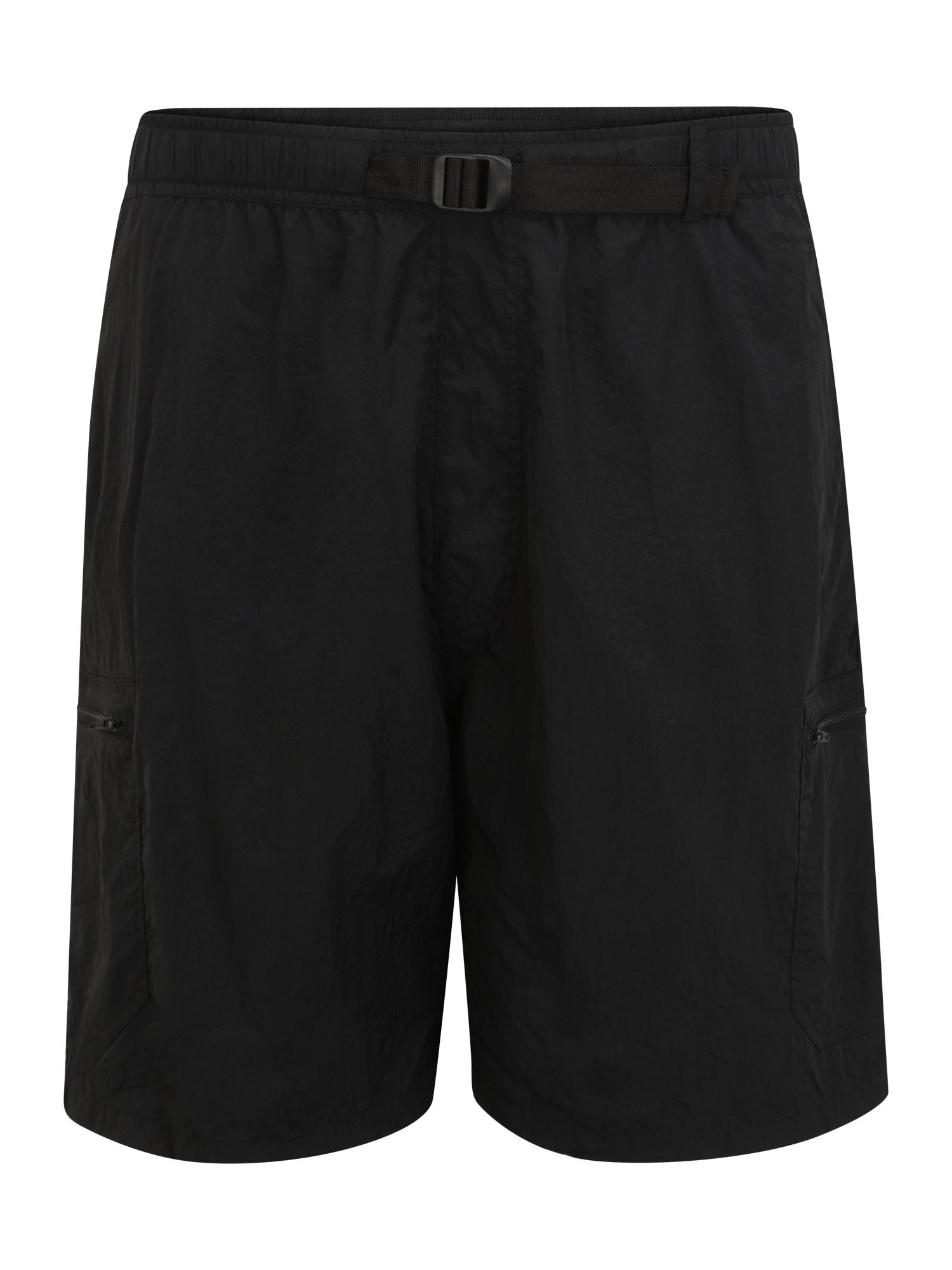 Urban Classics Plus Size Laisvo stiliaus kelnės juoda