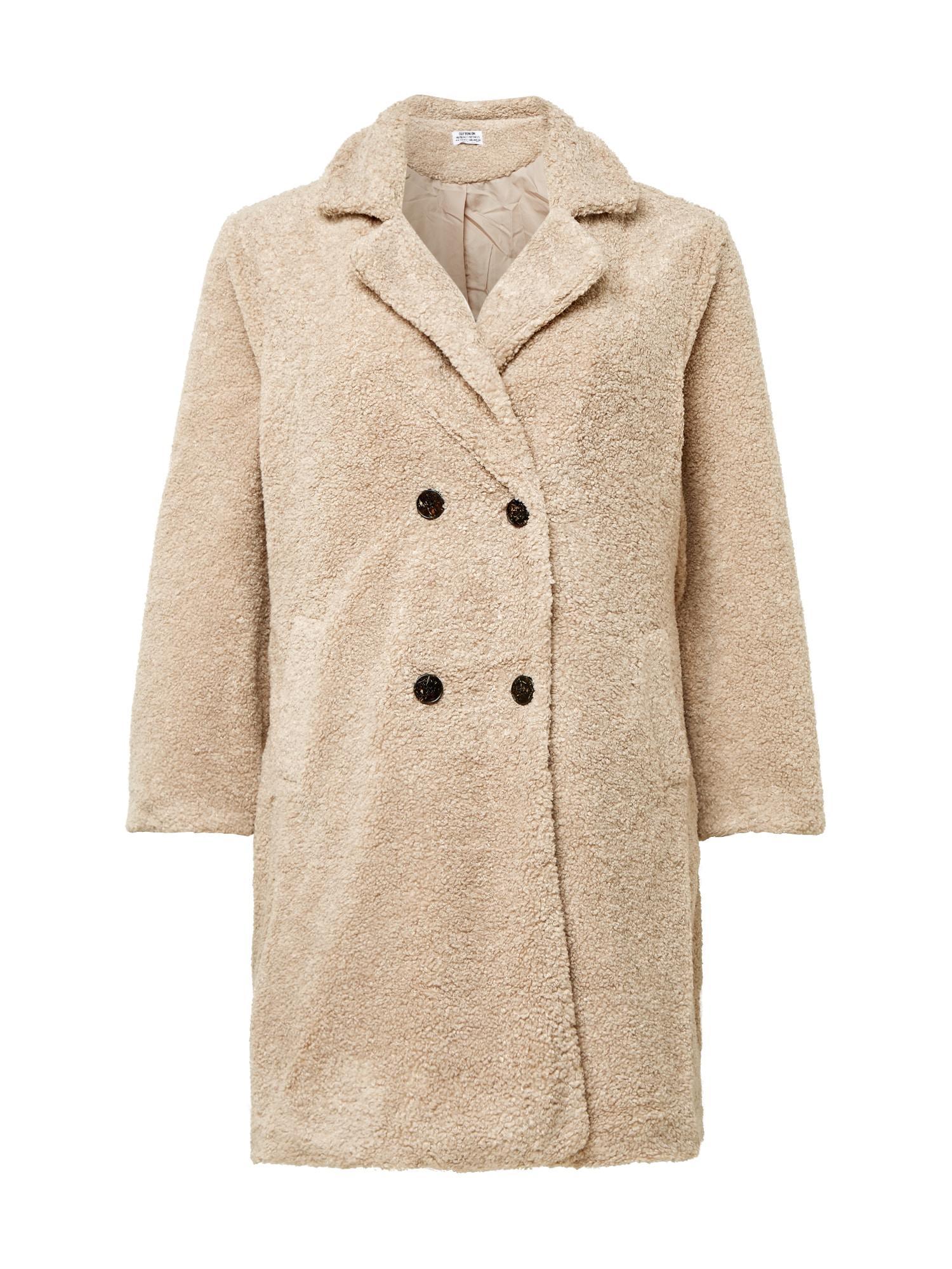 Cotton On Curve Demisezoninis paltas kremo