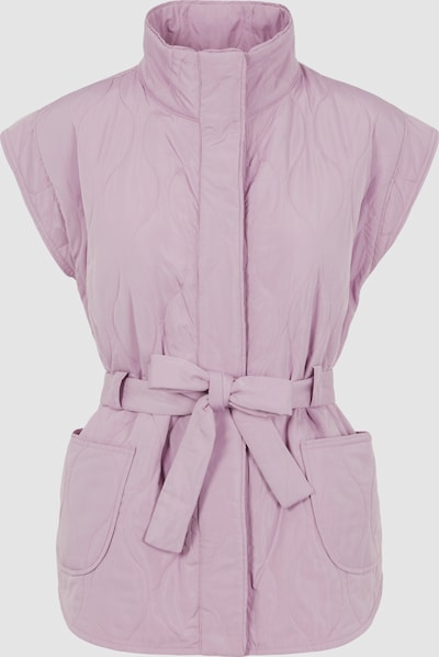 Y.A.S Lavender Sleeveless Qulted Tie Waist Vest