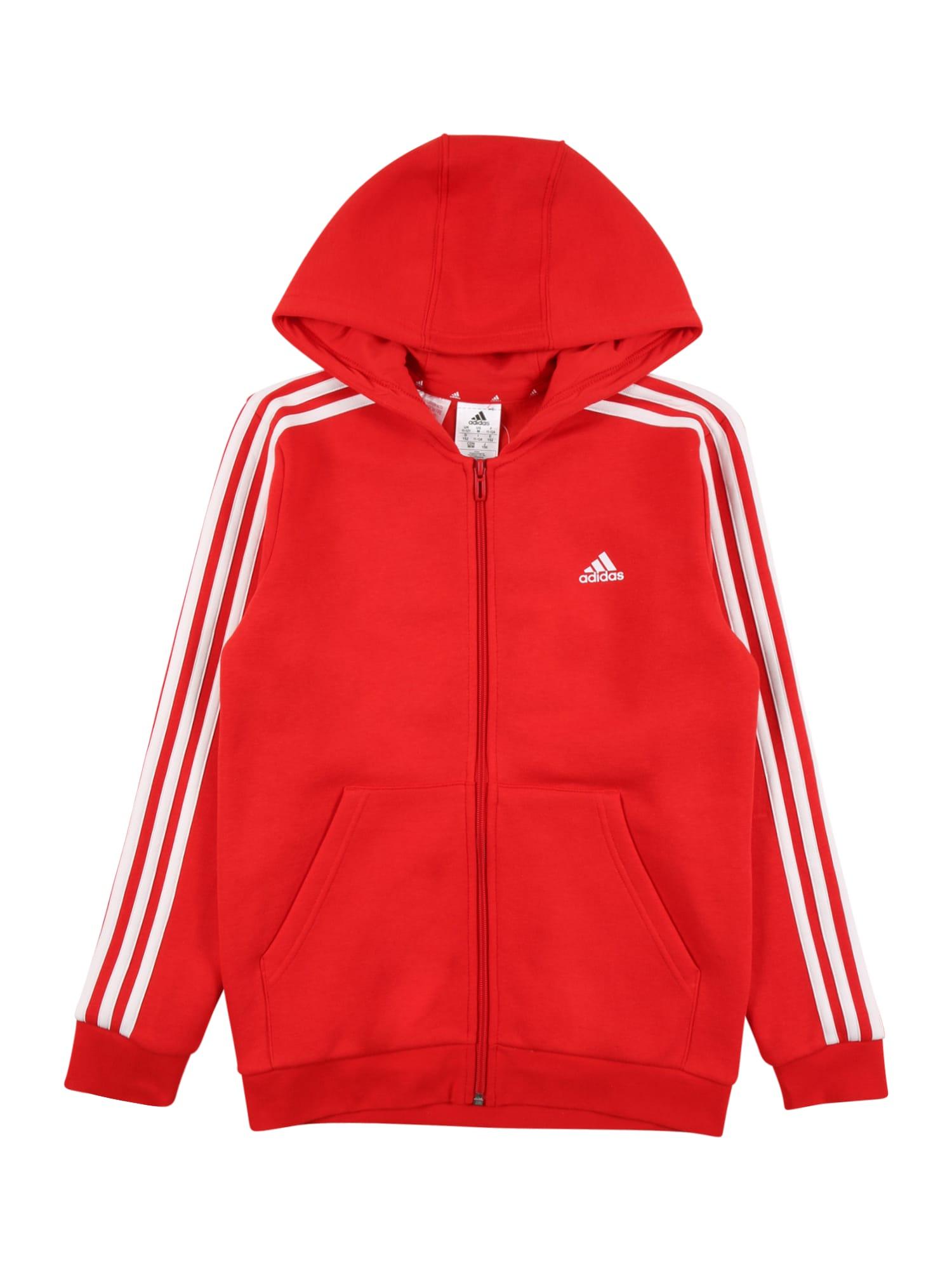 ADIDAS PERFORMANCE Sportinis džemperis raudona / balta
