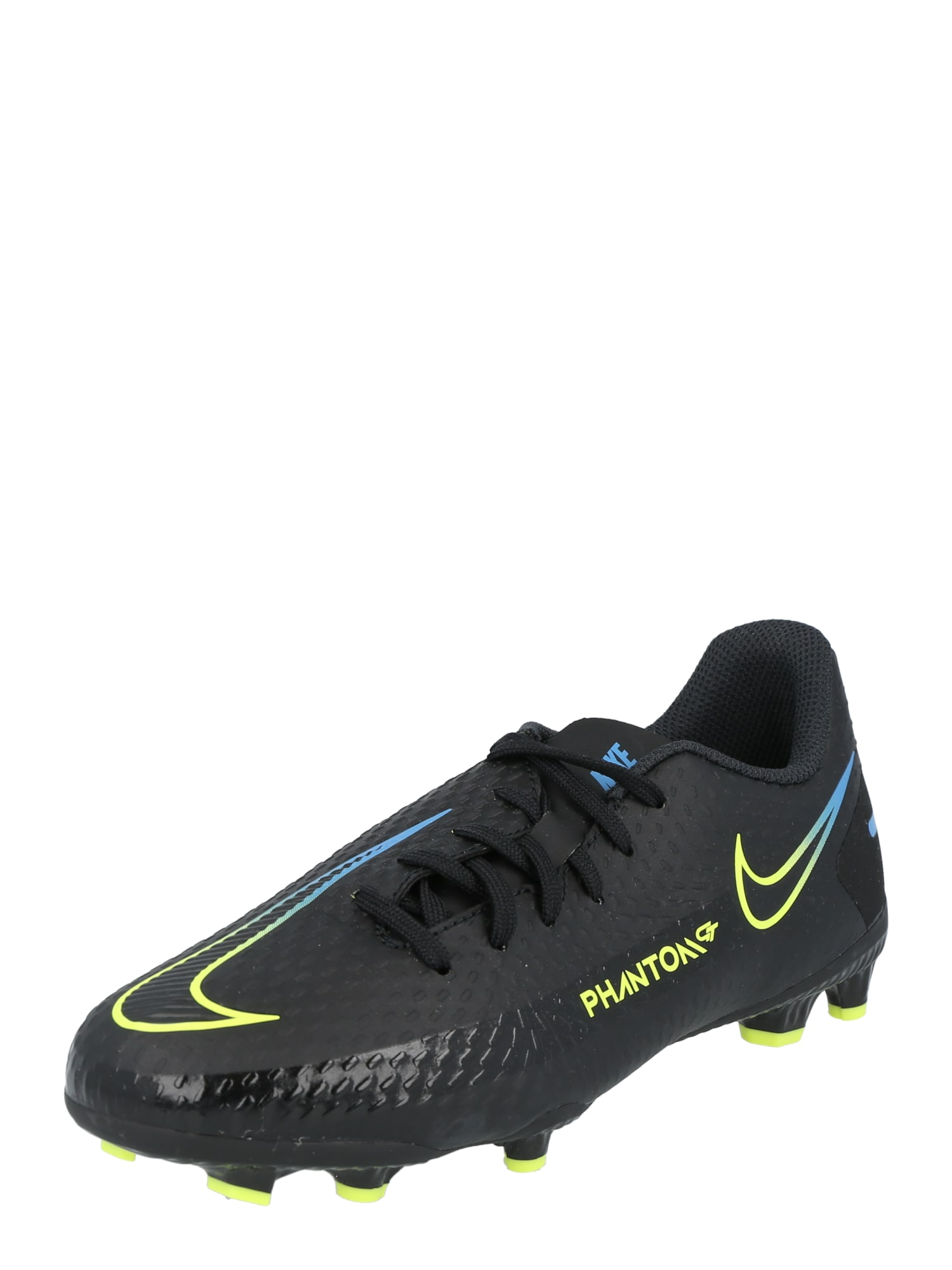 NIKE Sportiniai batai 'Phantom GT Academy' juoda / geltona / šviesiai mėlyna
