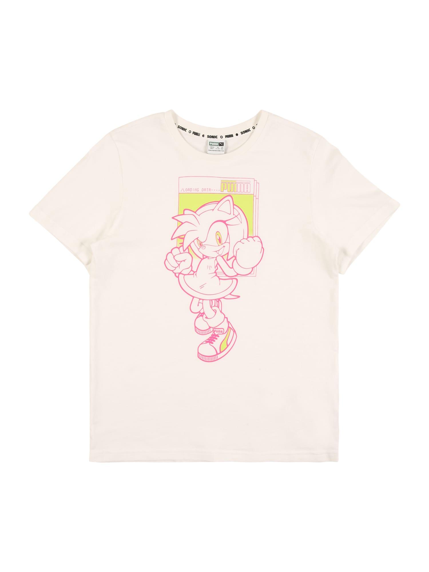 PUMA Sportiniai marškinėliai rožinė / balta