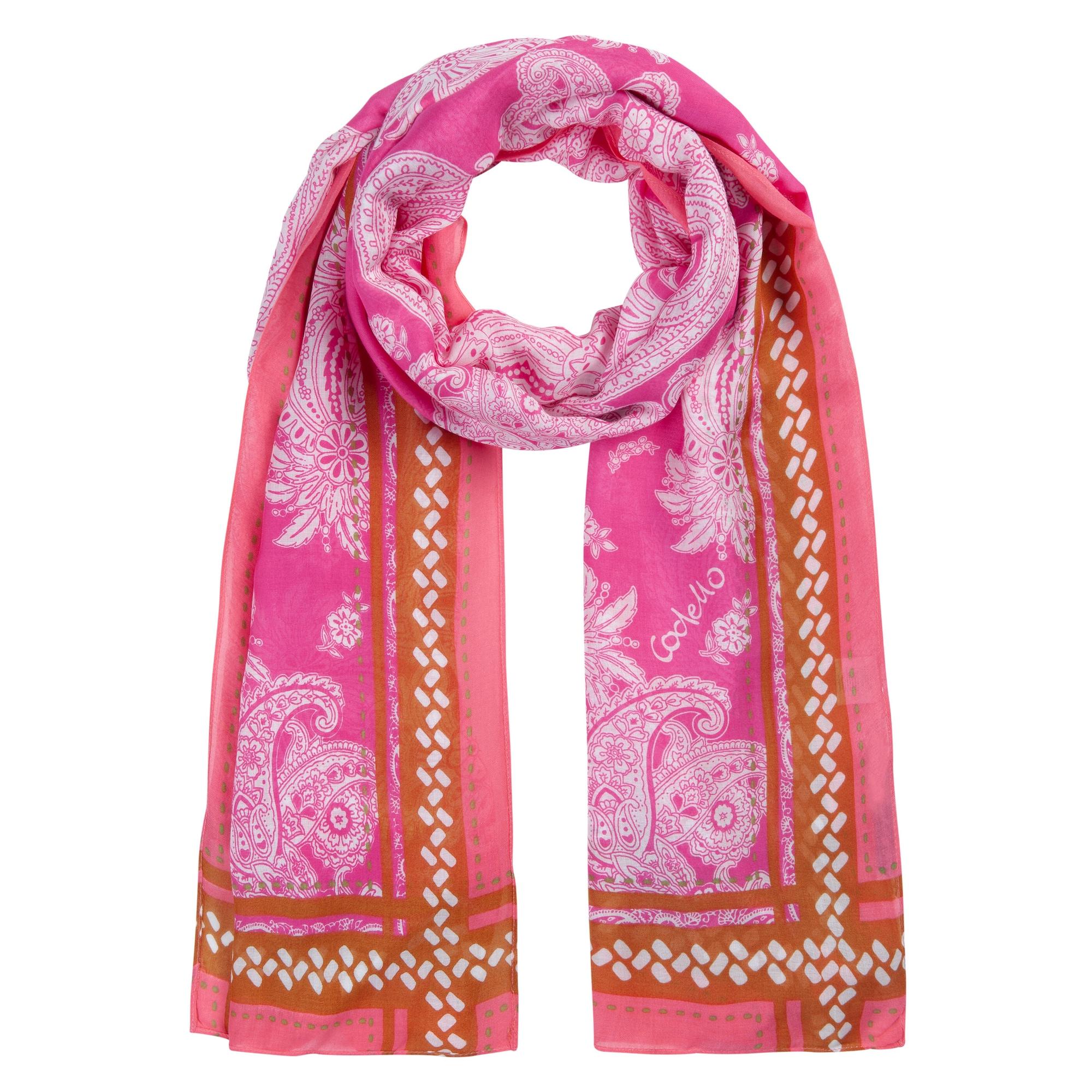 CODELLO Šalikas tamsiai rožinė / šviesiai rožinė