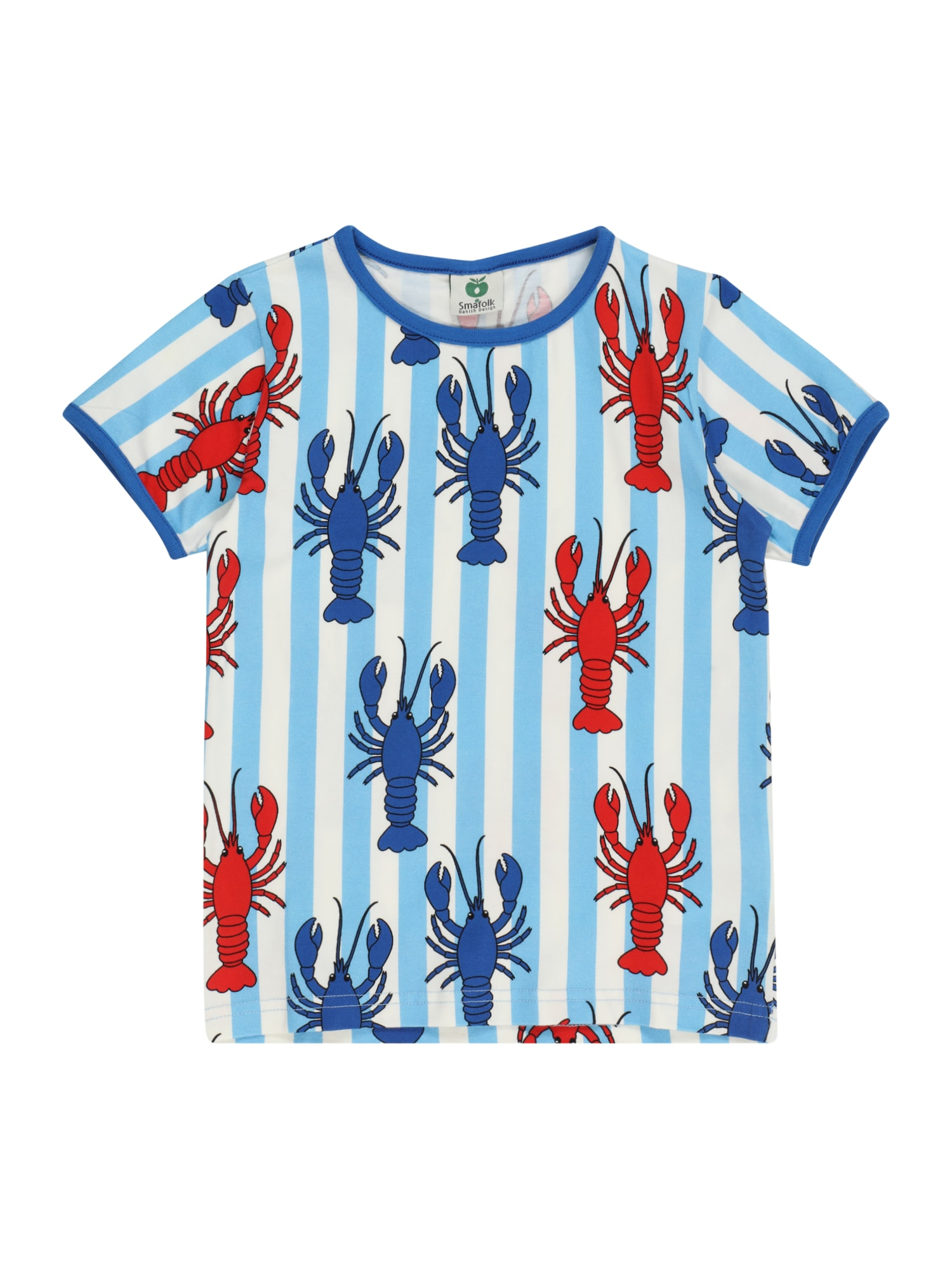 Småfolk Marškinėliai mėlyna / raudona / balta / šviesiai mėlyna