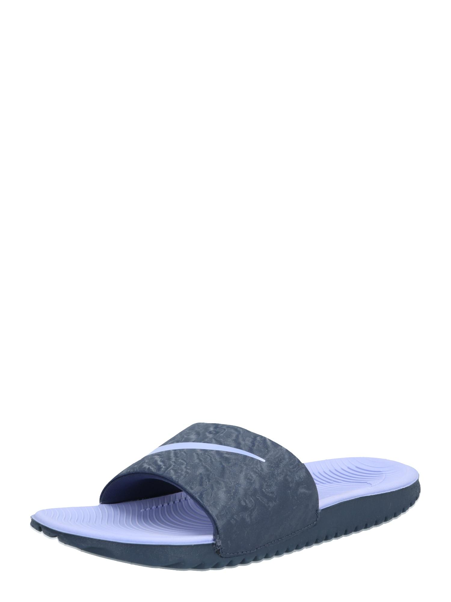 NIKE Sandalai / maudymosi batai 'KAWA' tamsiai pilka / šviesiai mėlyna