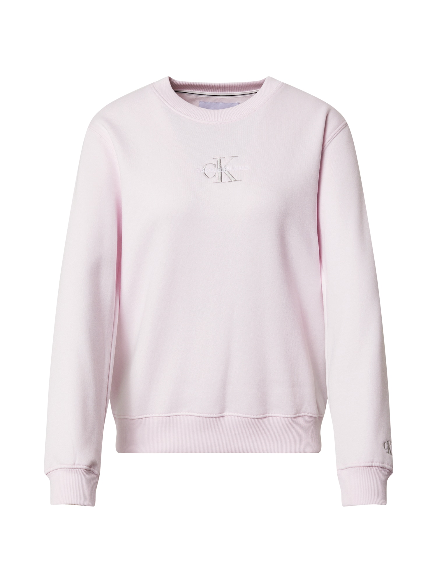 Calvin Klein Jeans Megztinis be užsegimo pastelinė rožinė / pilka