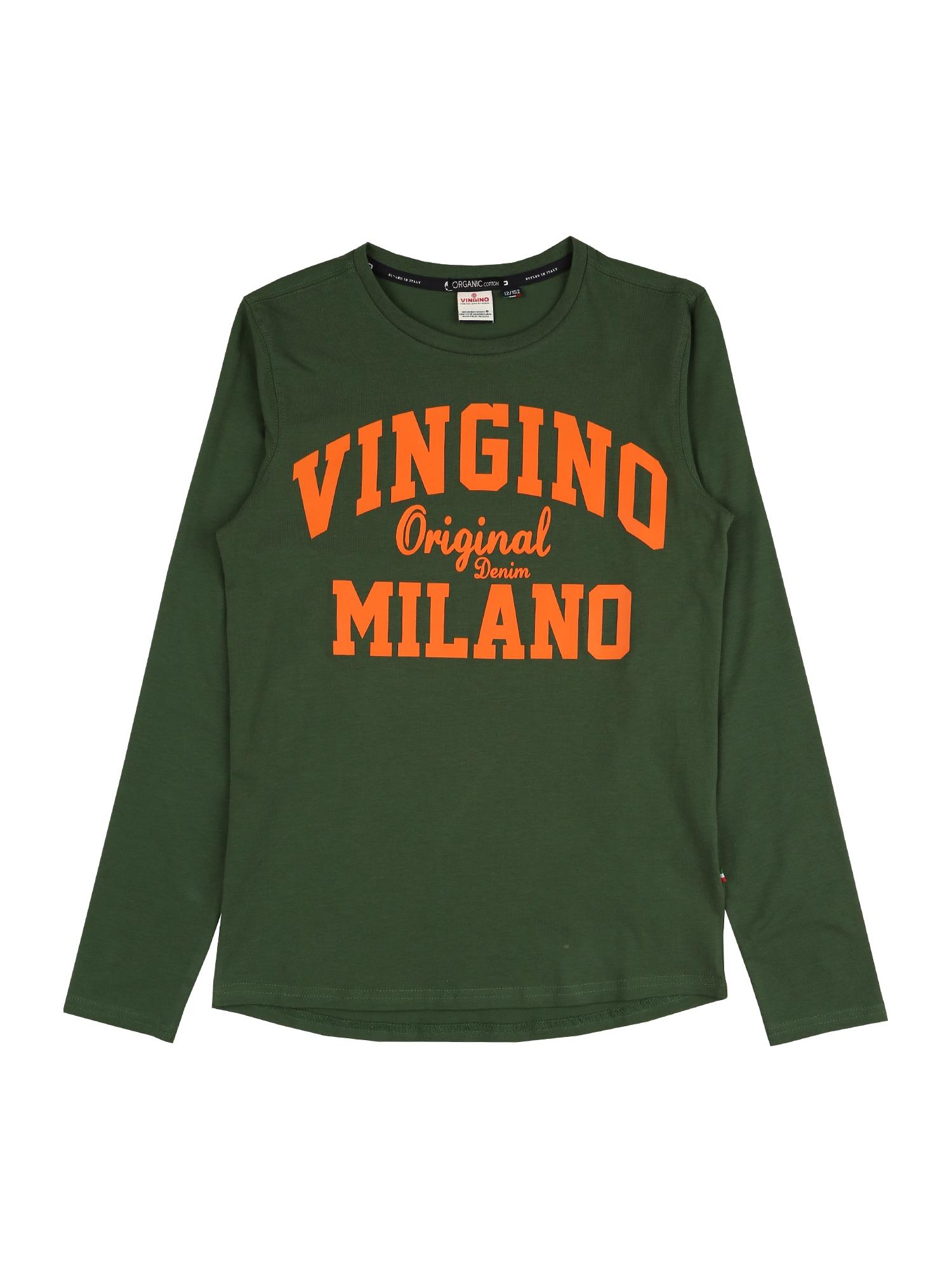 VINGINO Marškinėliai žalia / oranžinė
