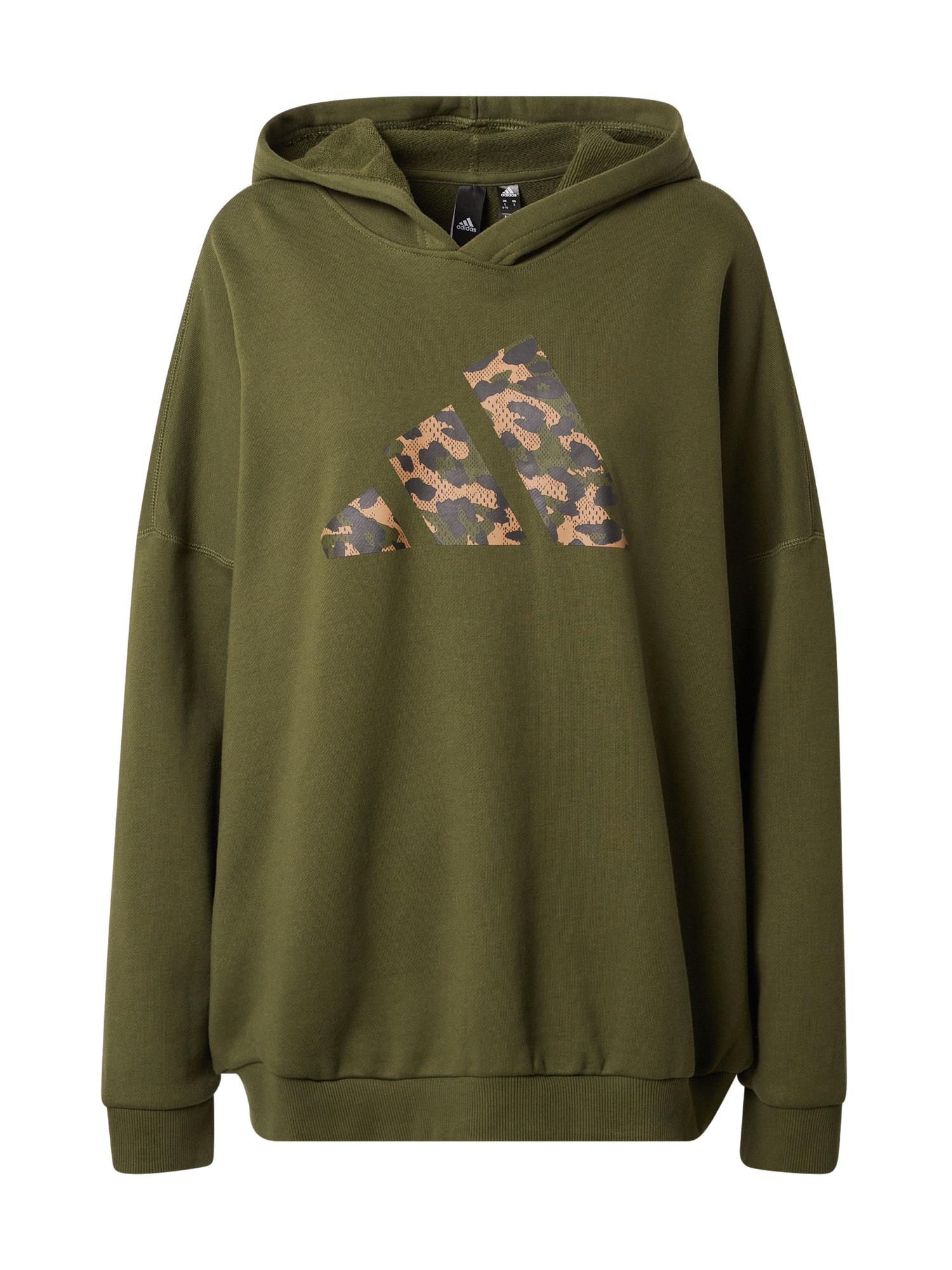 ADIDAS PERFORMANCE Sportinio tipo megztinis smėlio / rusvai žalia / tamsiai mėlyna jūros spalva