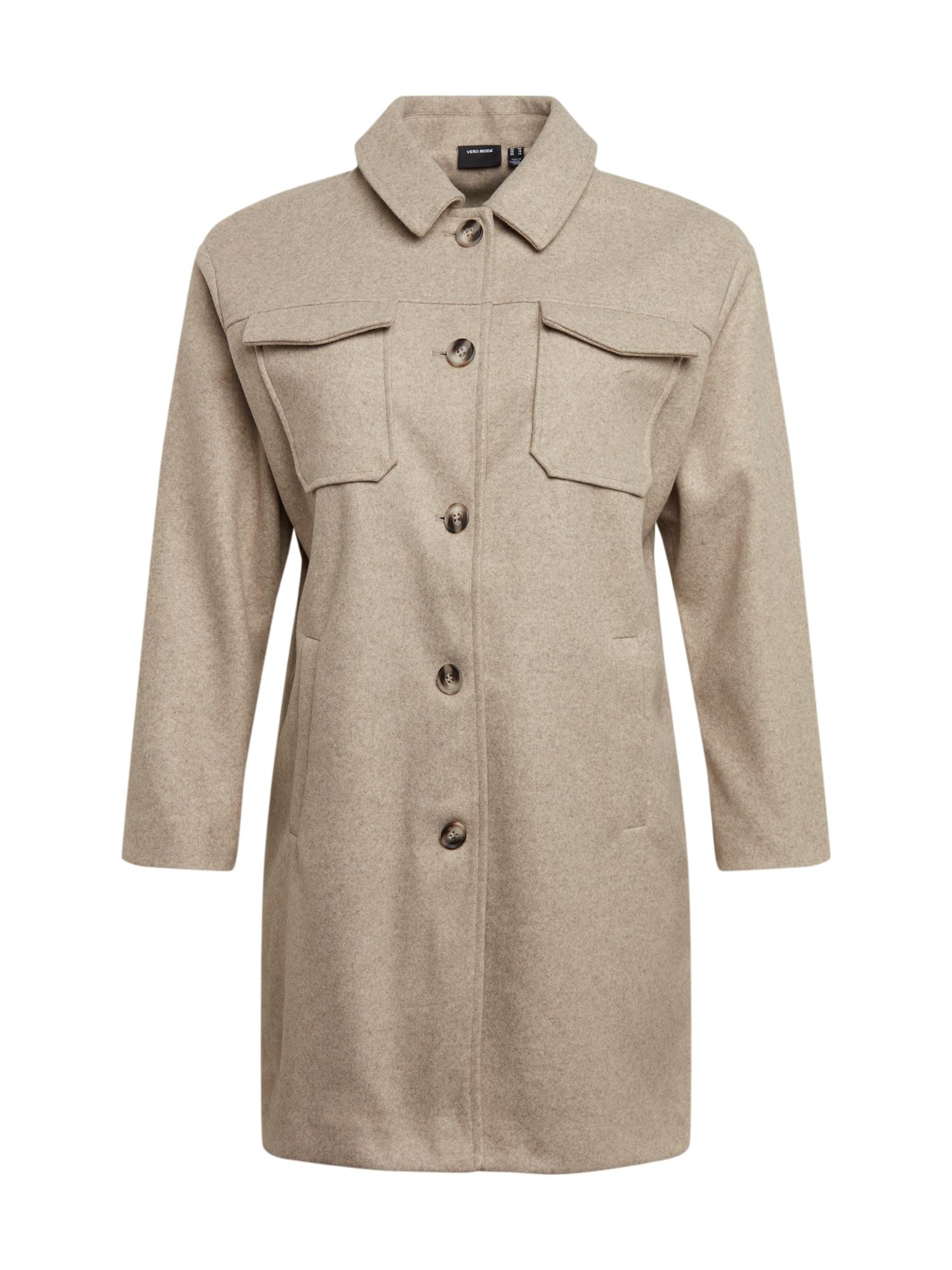 Vero Moda Curve Demisezoninis paltas smėlio
