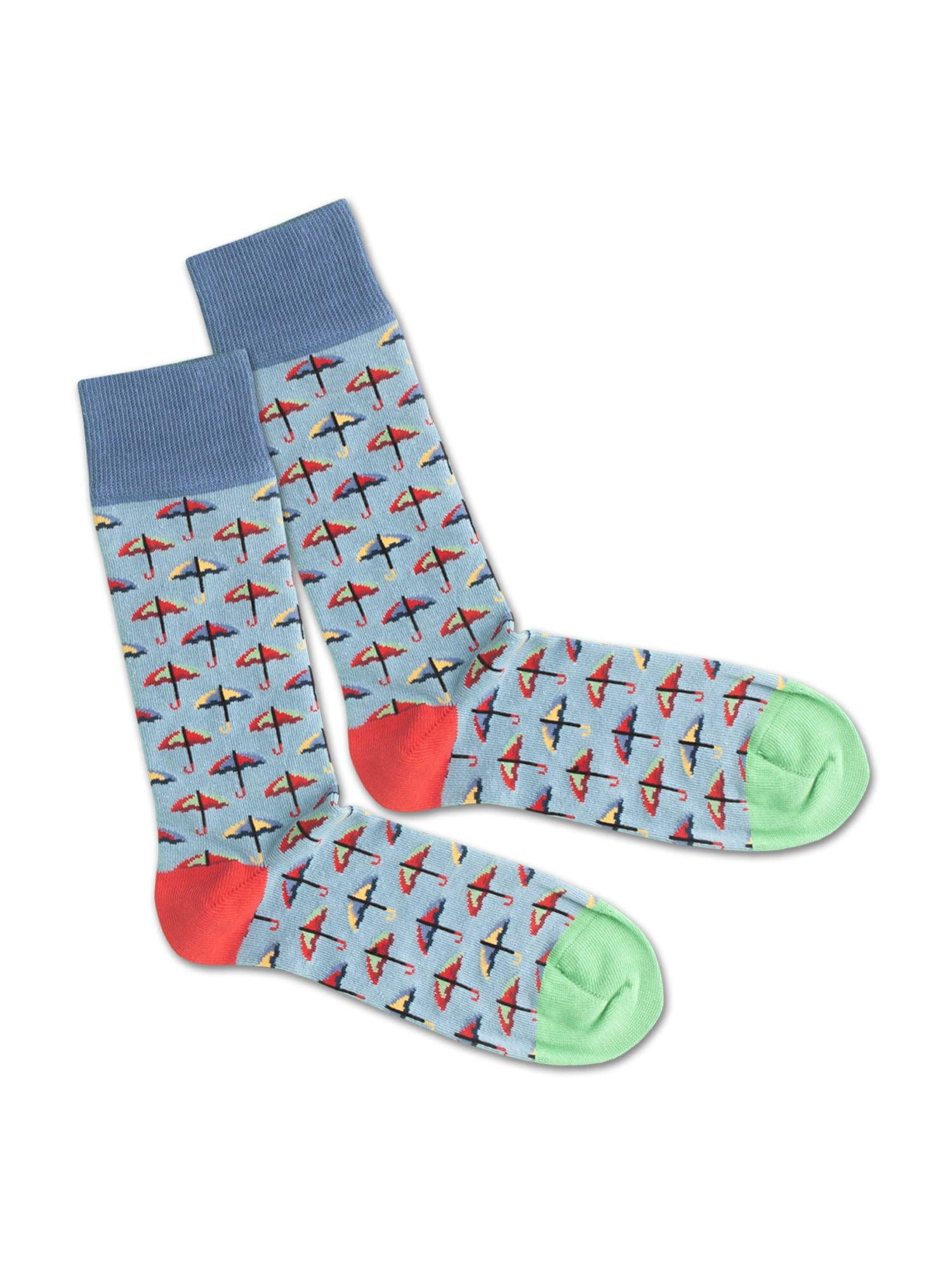 DillySocks Ponožky 'SS20-33 Rainy Day'  zelená / modrá / červená