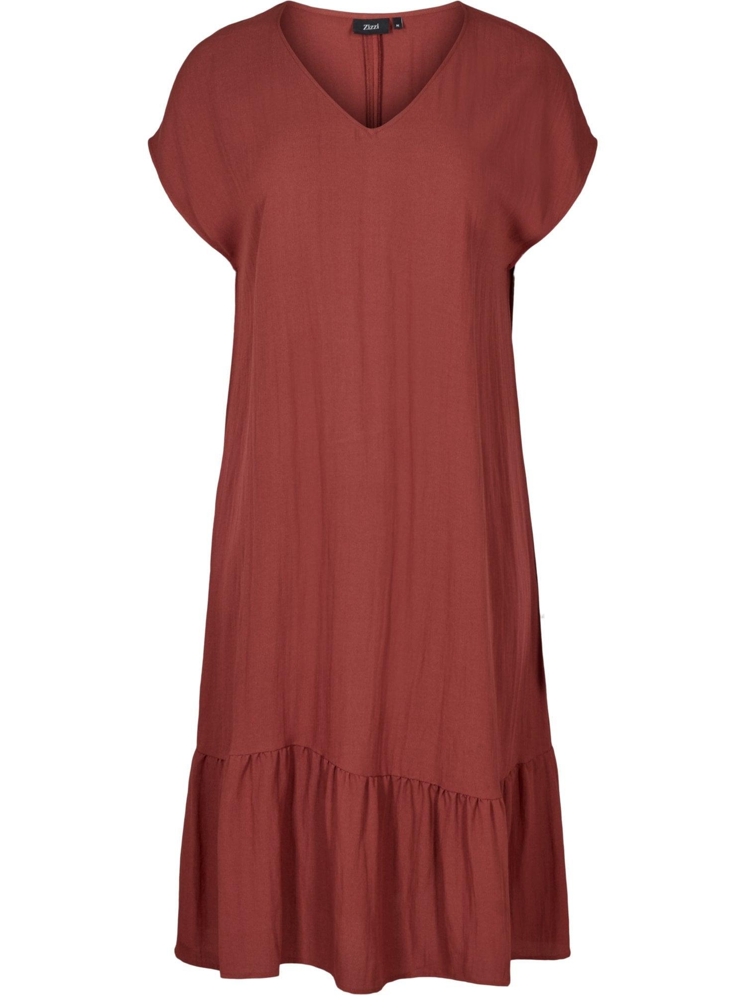 Zizzi Letní šaty 'Vmacy'  vínově červená