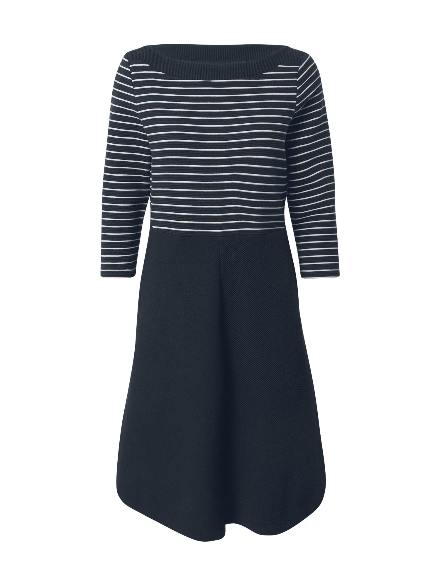 ESPRIT Suknelė tamsiai mėlyna / balta