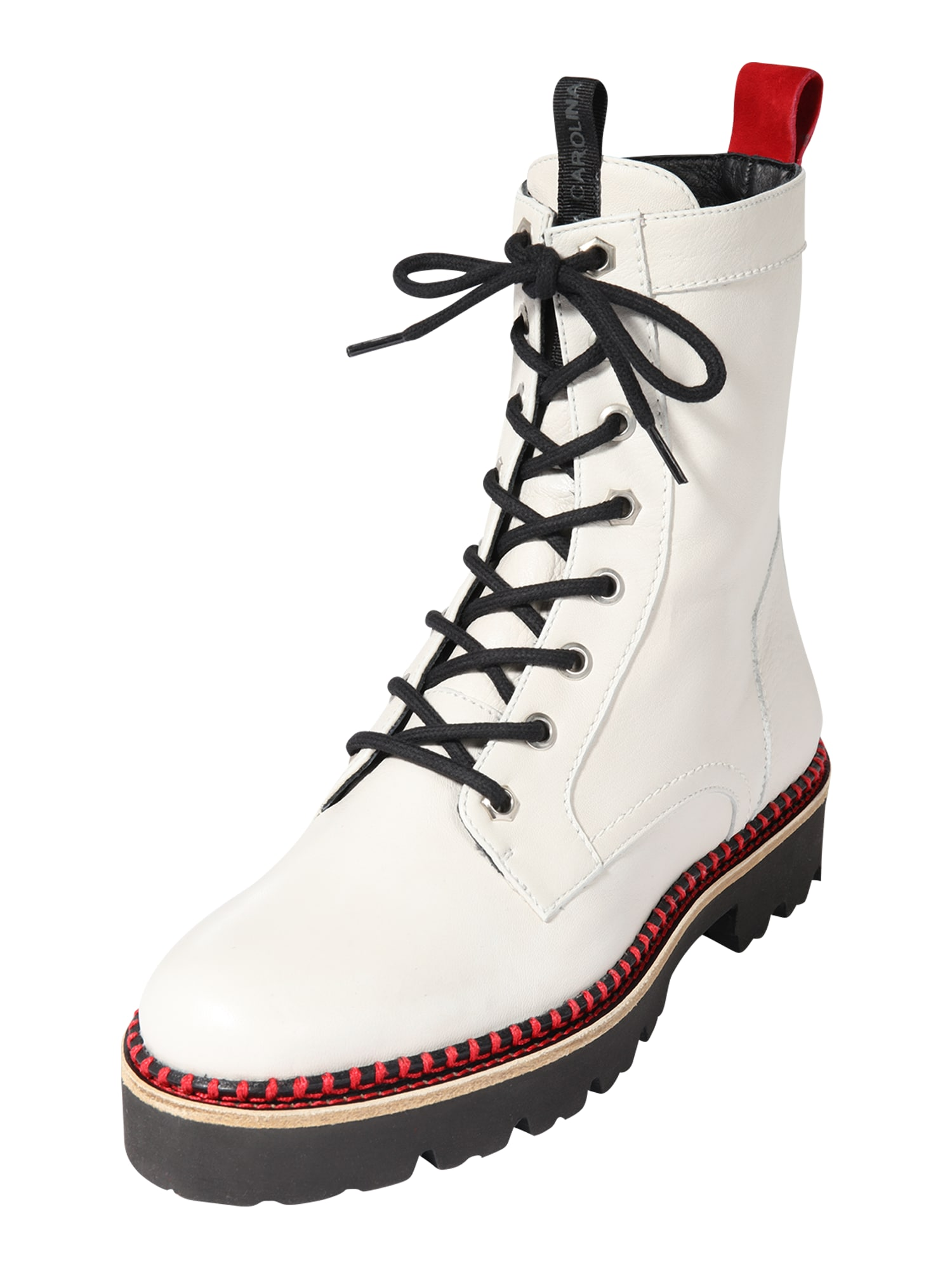 Donna Carolina Šněrovací boty  bílá