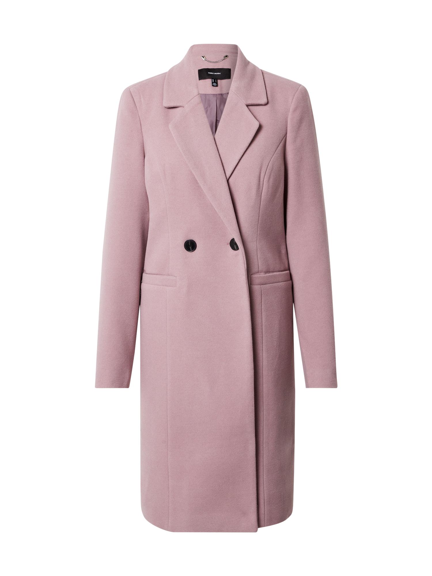 VERO MODA Demisezoninis paltas šviesiai violetinė