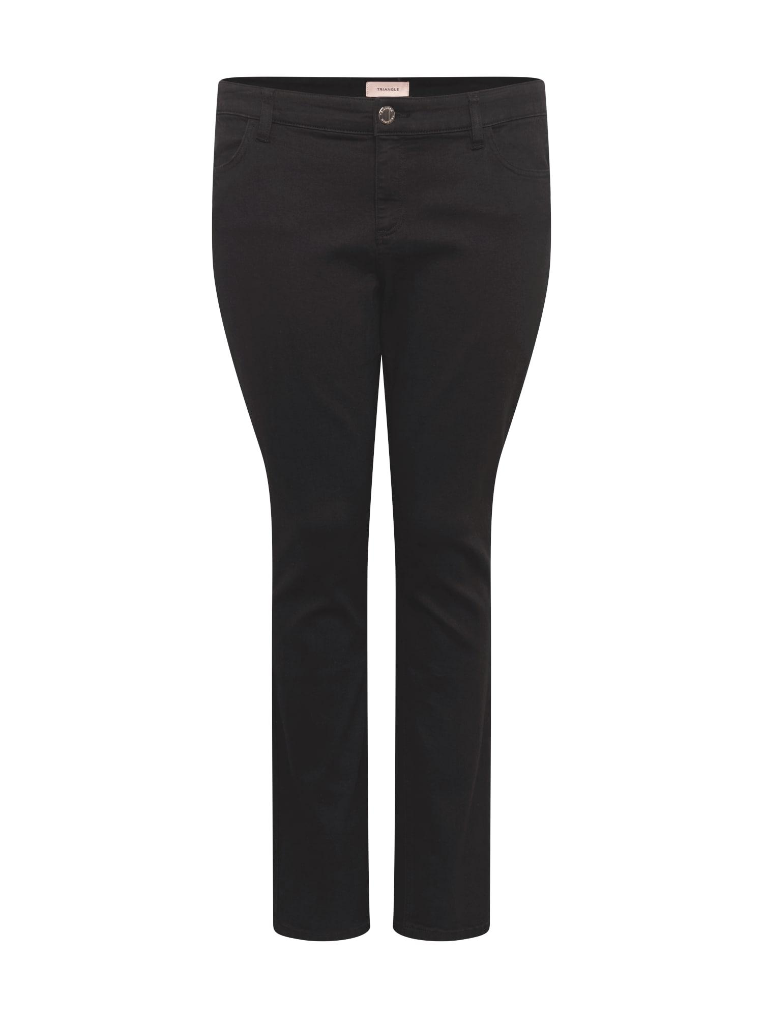 TRIANGLE Džinsai juodo džinso spalva