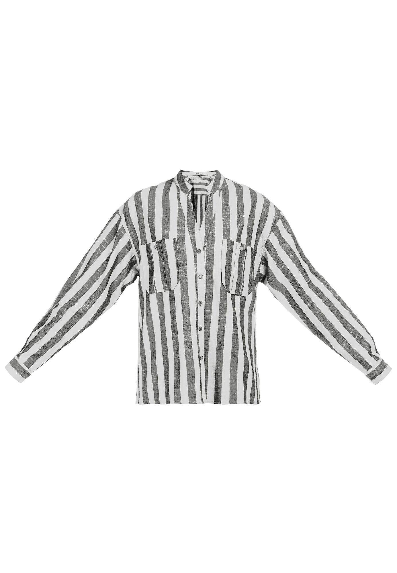 DreiMaster Vintage Palaidinė balta / margai juoda