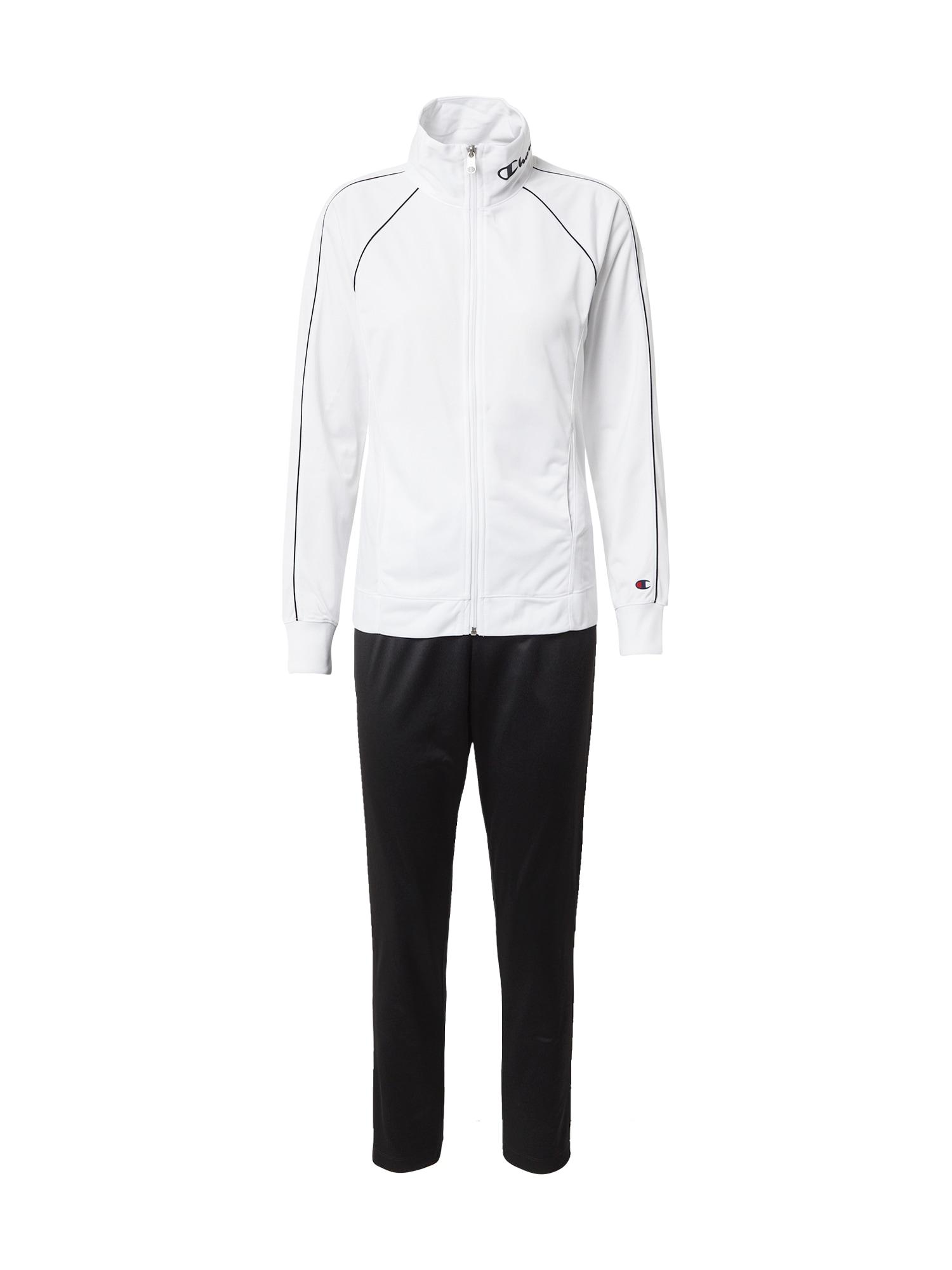 Champion Authentic Athletic Apparel Sportinis kostiumas juoda / balta