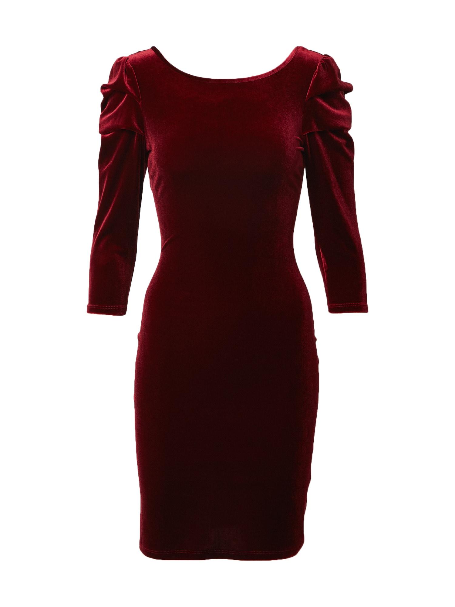 Dorothy Perkins Kokteilinė suknelė vyno raudona spalva