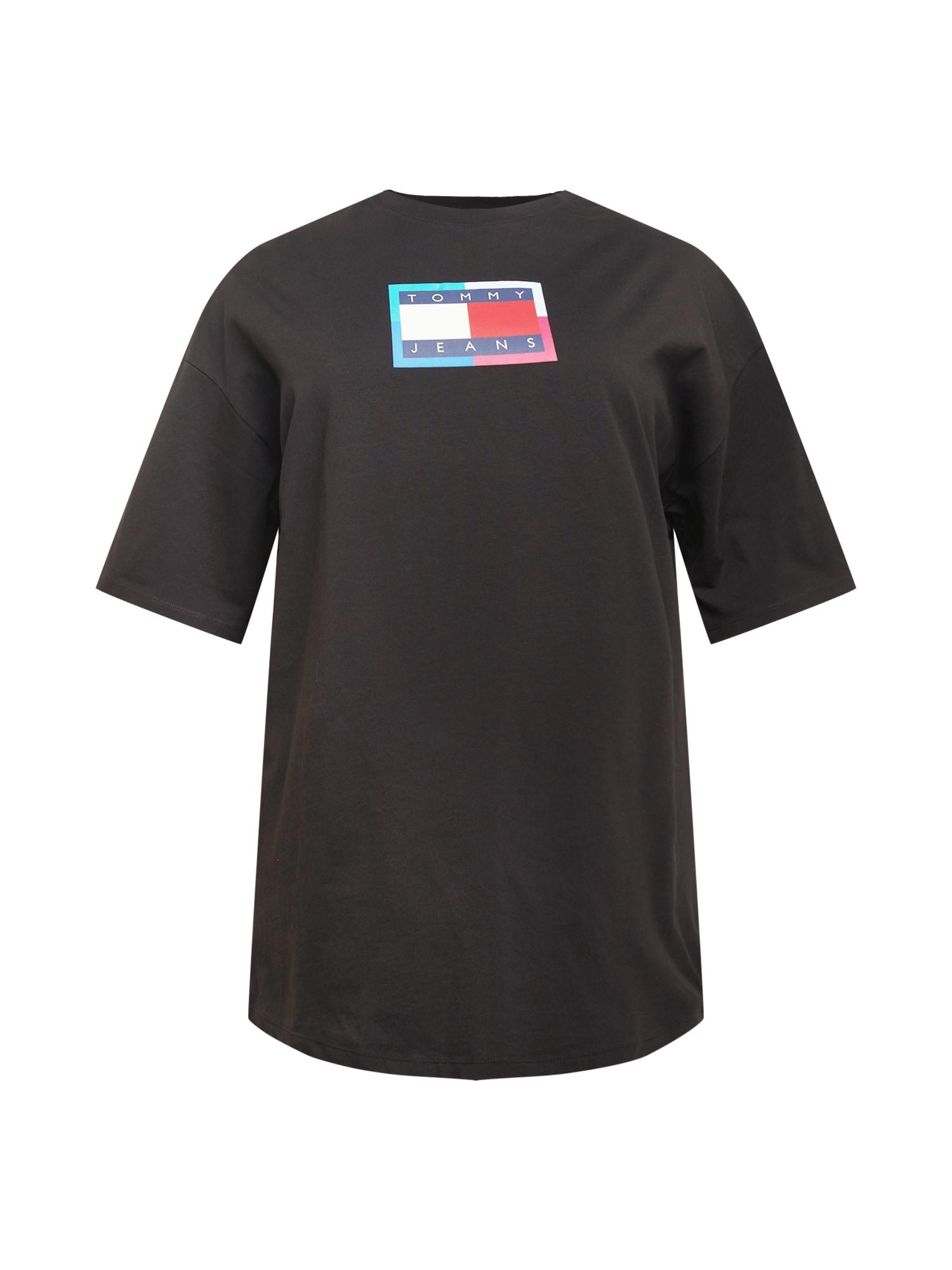 Tommy Jeans Curve Suknelė juoda / tamsiai mėlyna / raudona / balta