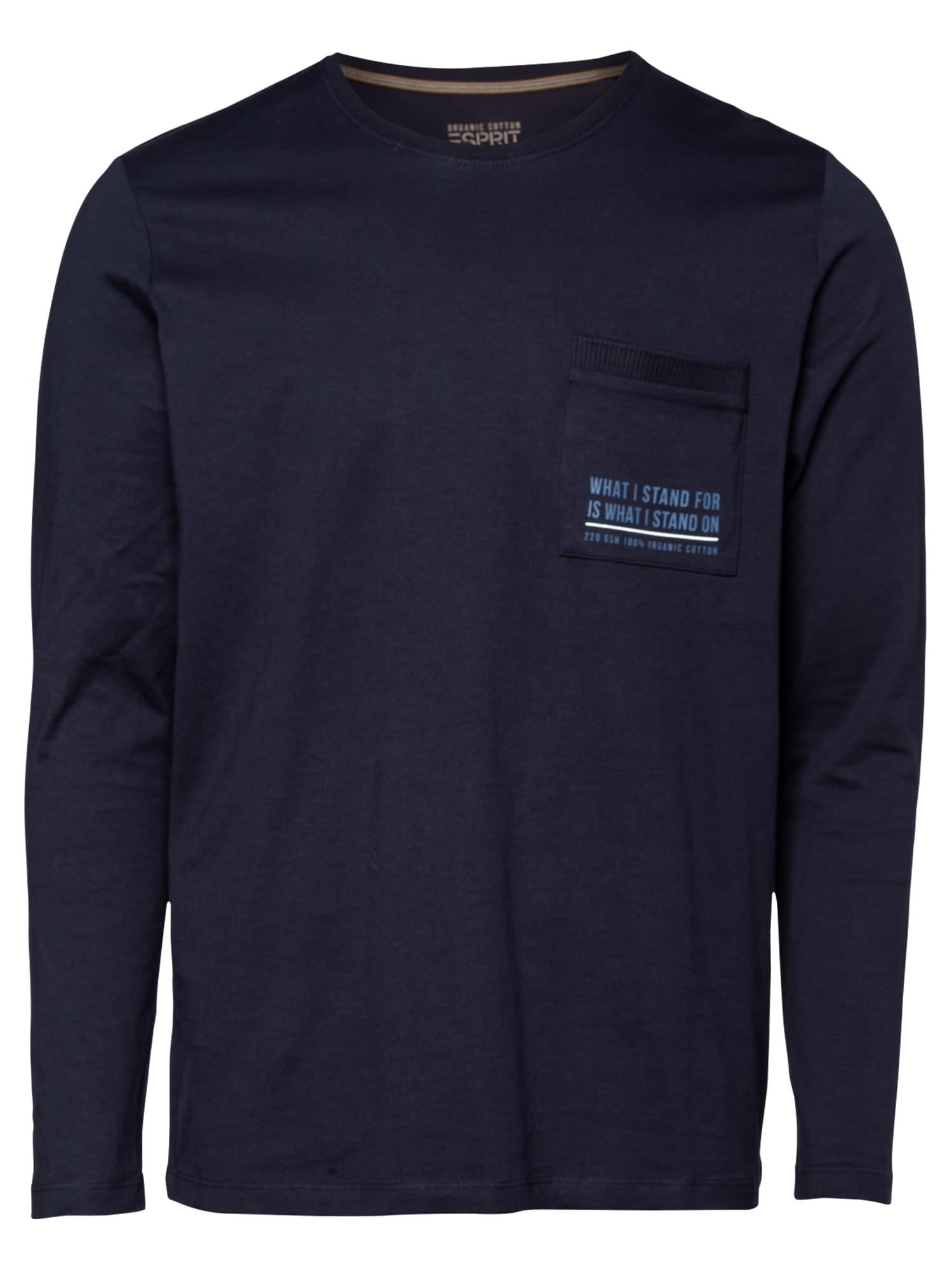 ESPRIT Marškinėliai tamsiai mėlyna / mėlyna / balta