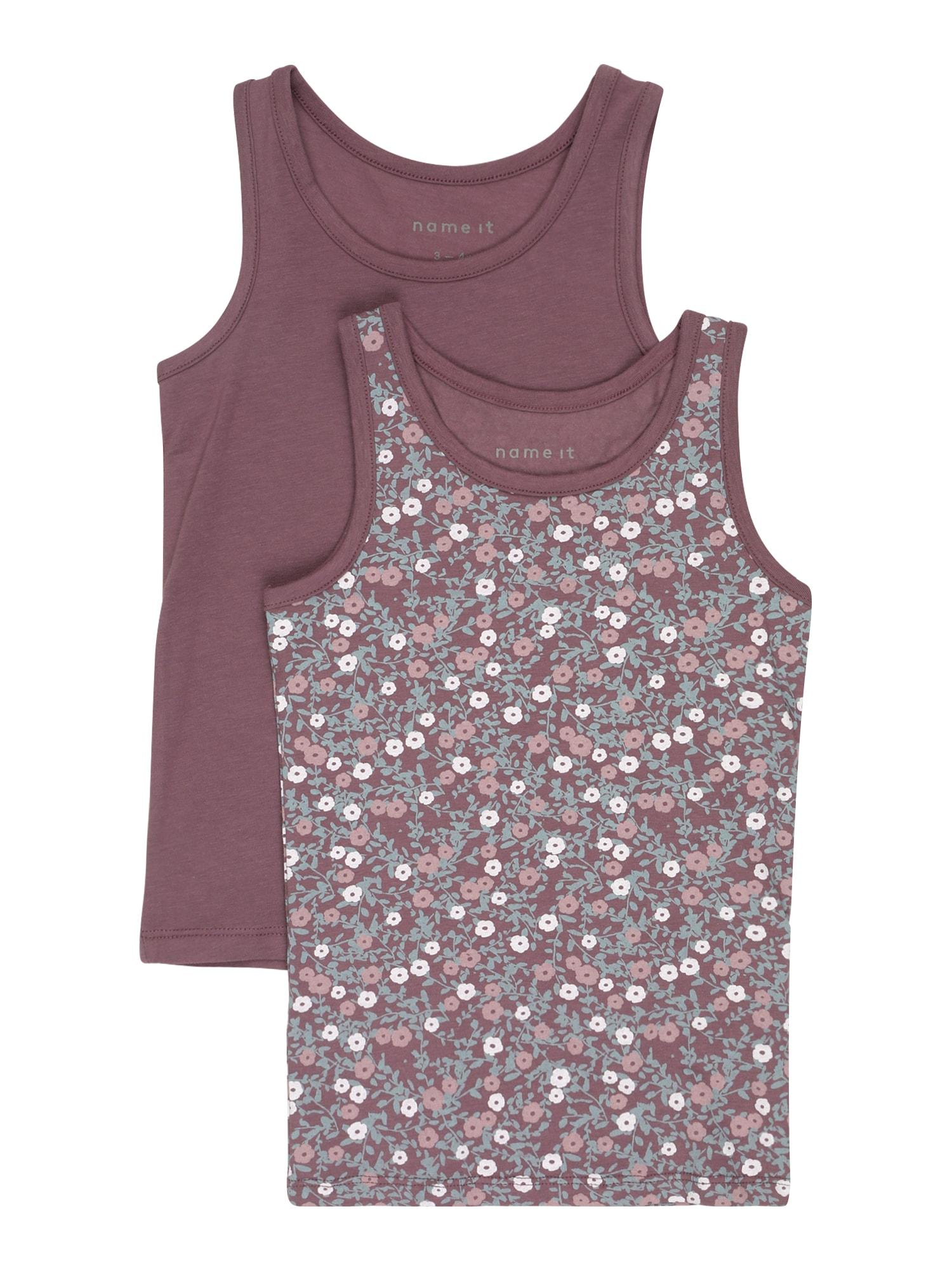 NAME IT Apatiniai marškinėliai slyvų spalva