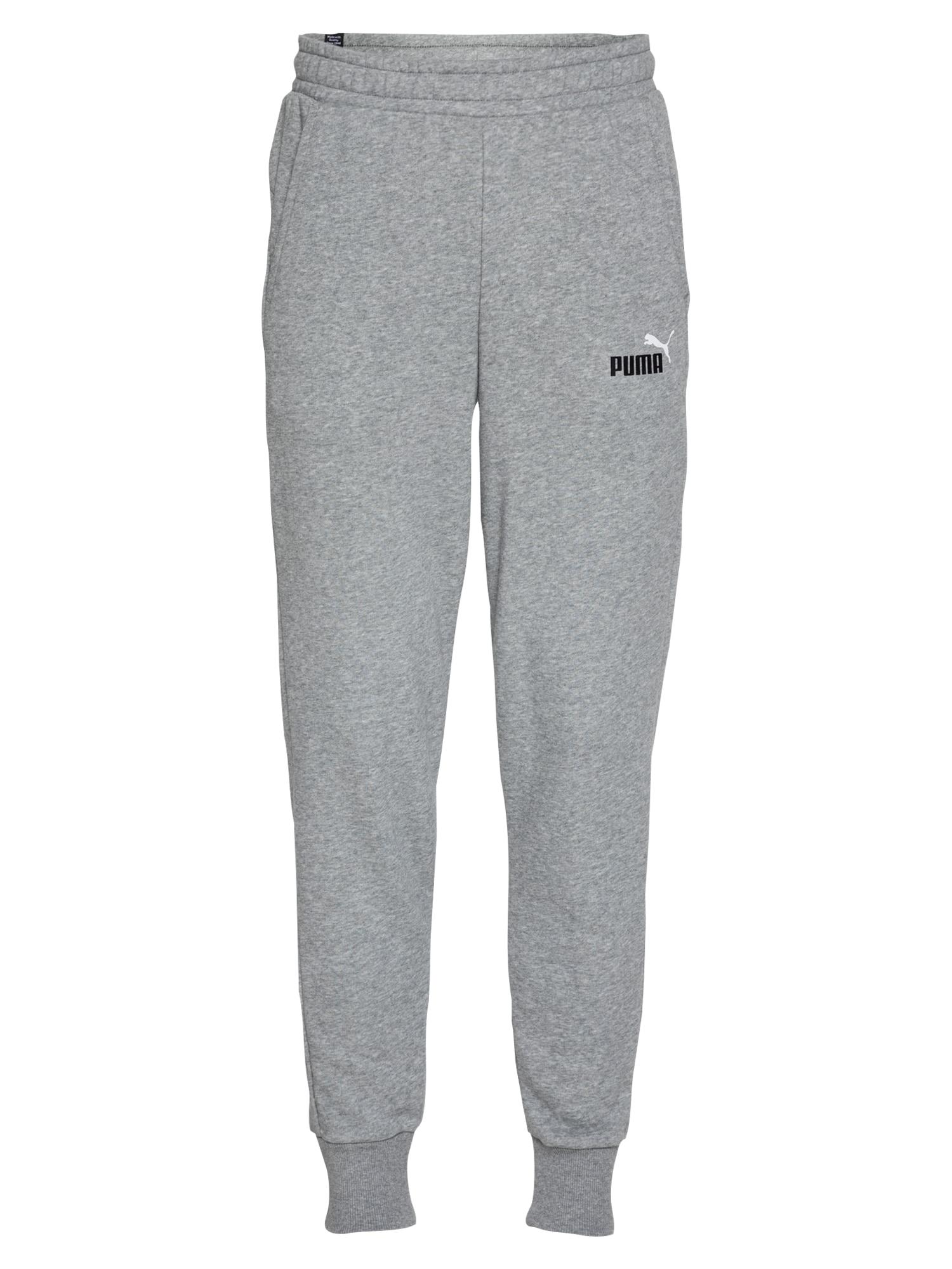 PUMA Sportinės kelnės margai pilka / juoda / balta