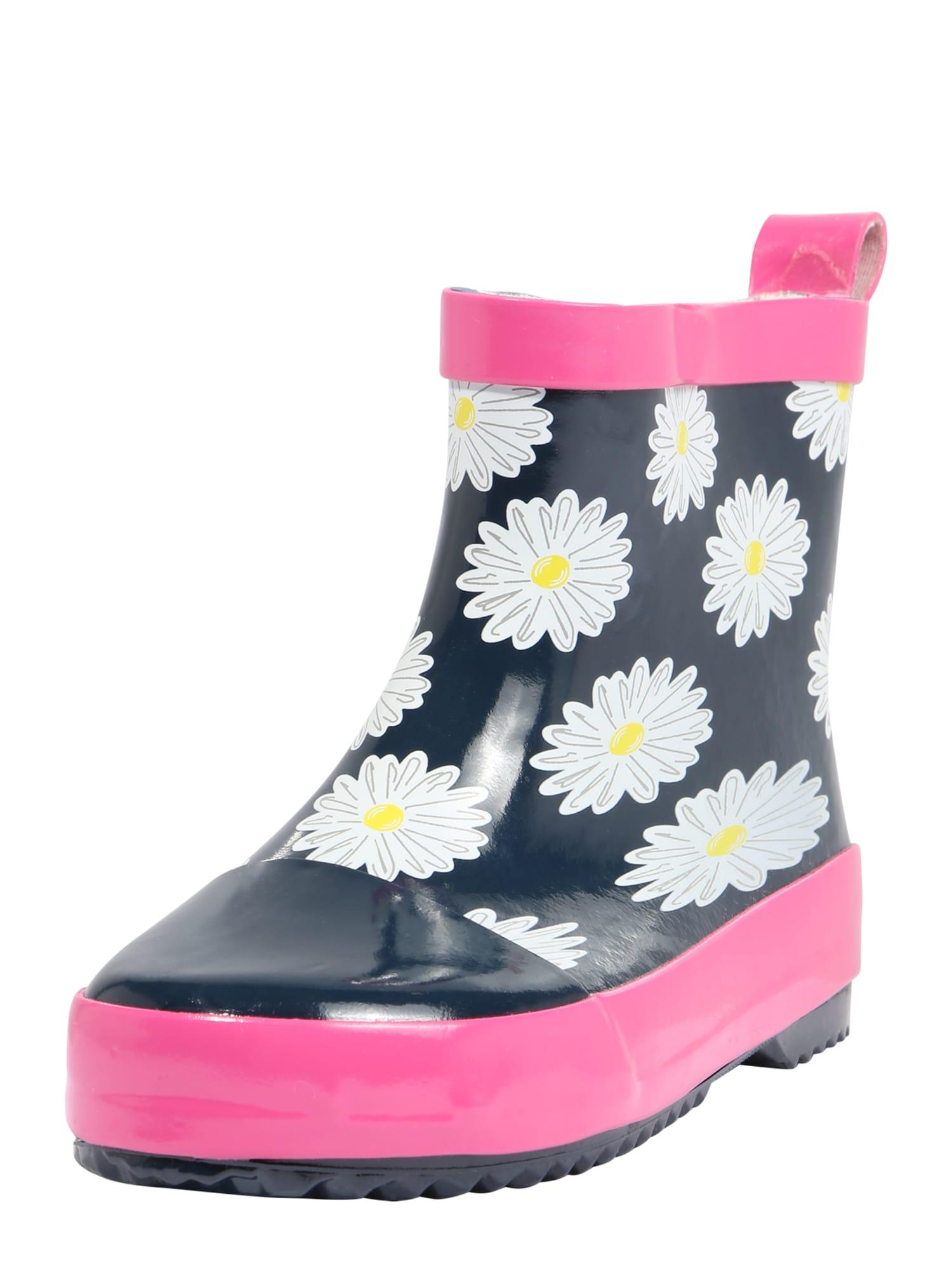 PLAYSHOES Guminiai batai tamsiai mėlyna / geltona / rožių spalva / balta
