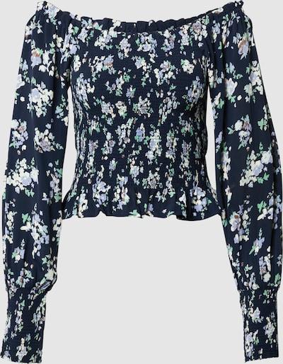 Pieces Dakota Smocked Bodice Square-Neck Langarm-Top mit Blumen-Print