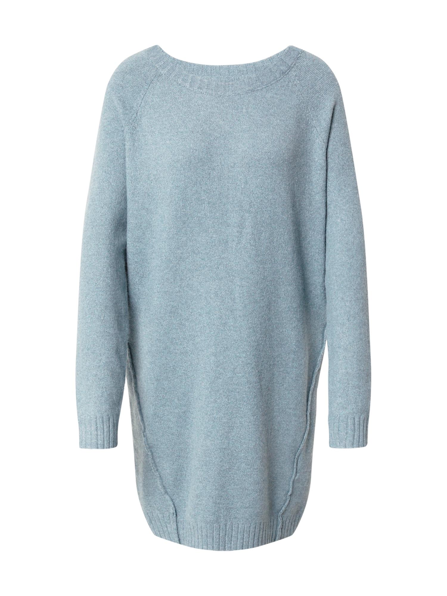 Noisy may Úpletové šaty 'IAN'  kouřově modrá