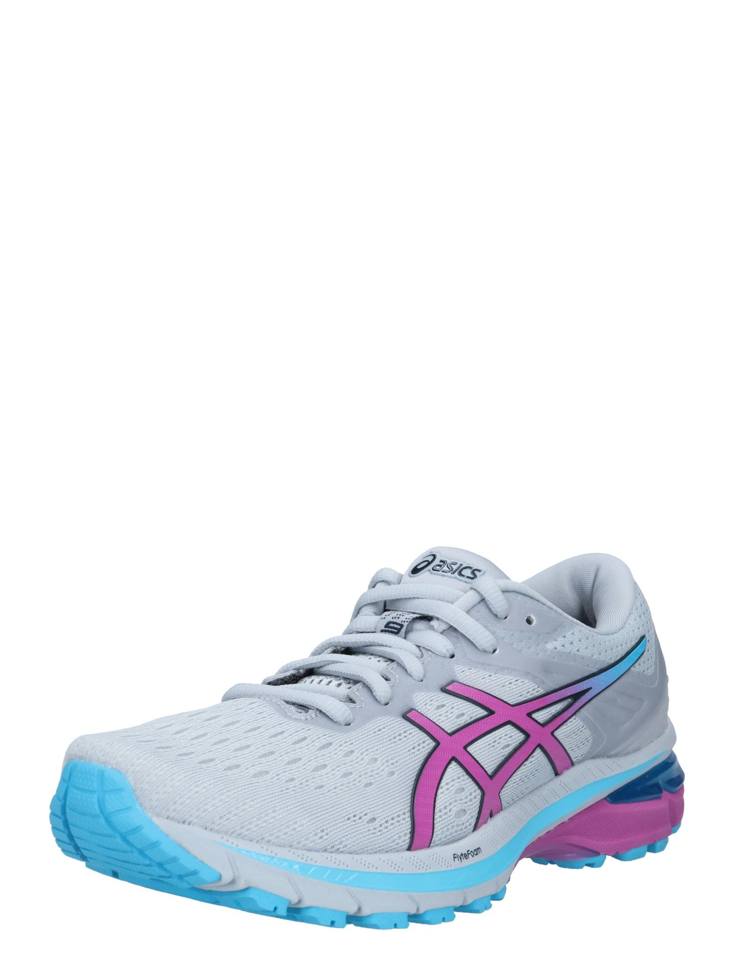 ASICS Bėgimo batai pilka / purpurinė / turkio spalva