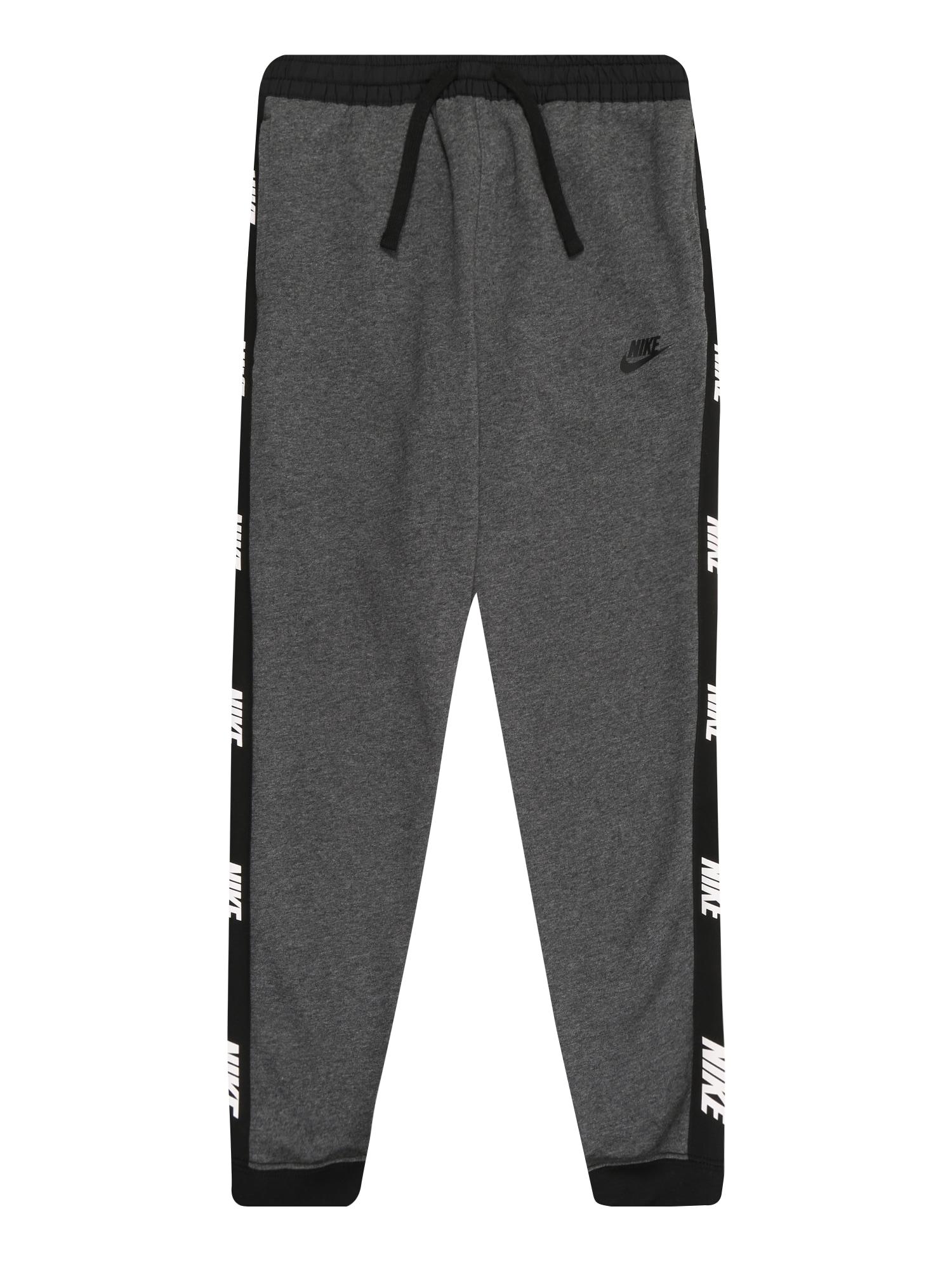 Nike Sportswear Nohavice  čierna / tmavosivá / biela