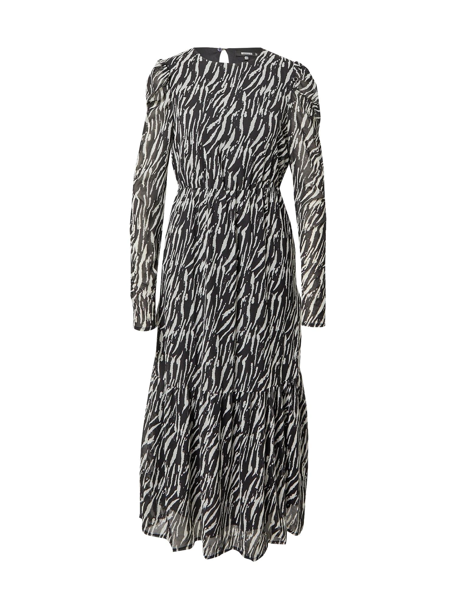 Missguided Suknelė juoda / pilka