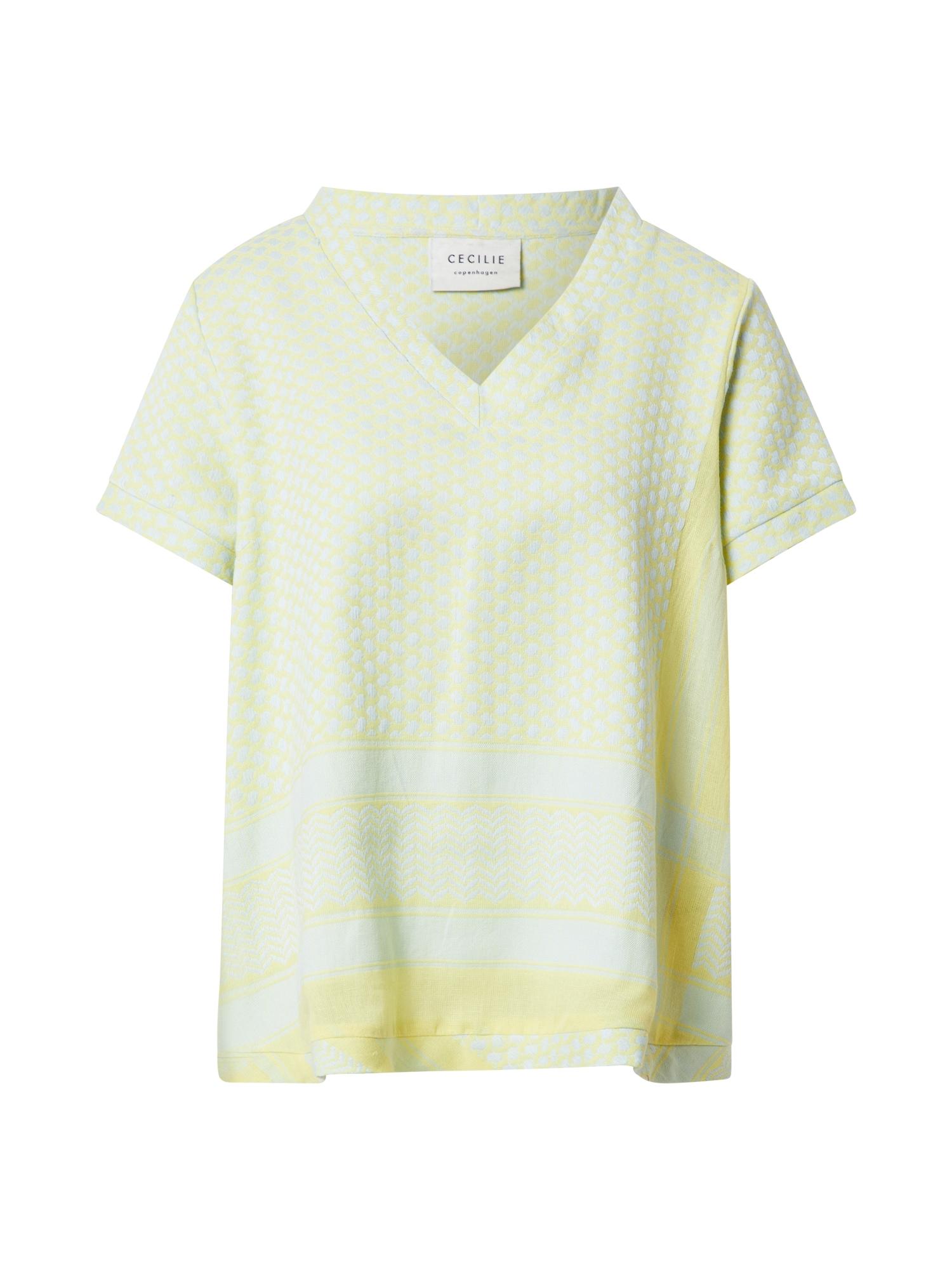 Cecilie Copenhagen Marškinėliai geltona / pastelinė žalia