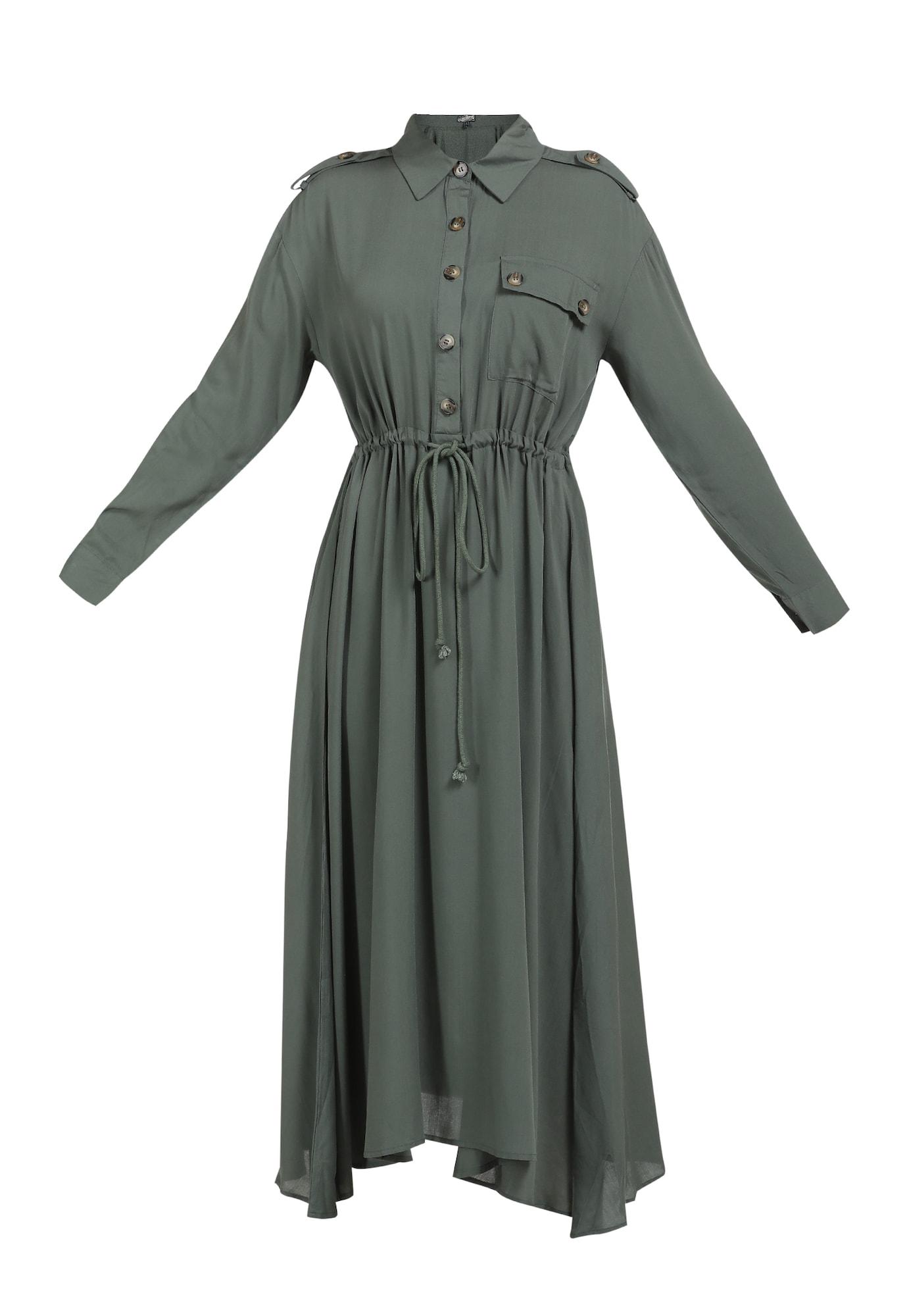 DreiMaster Vintage Palaidinės tipo suknelė rusvai žalia
