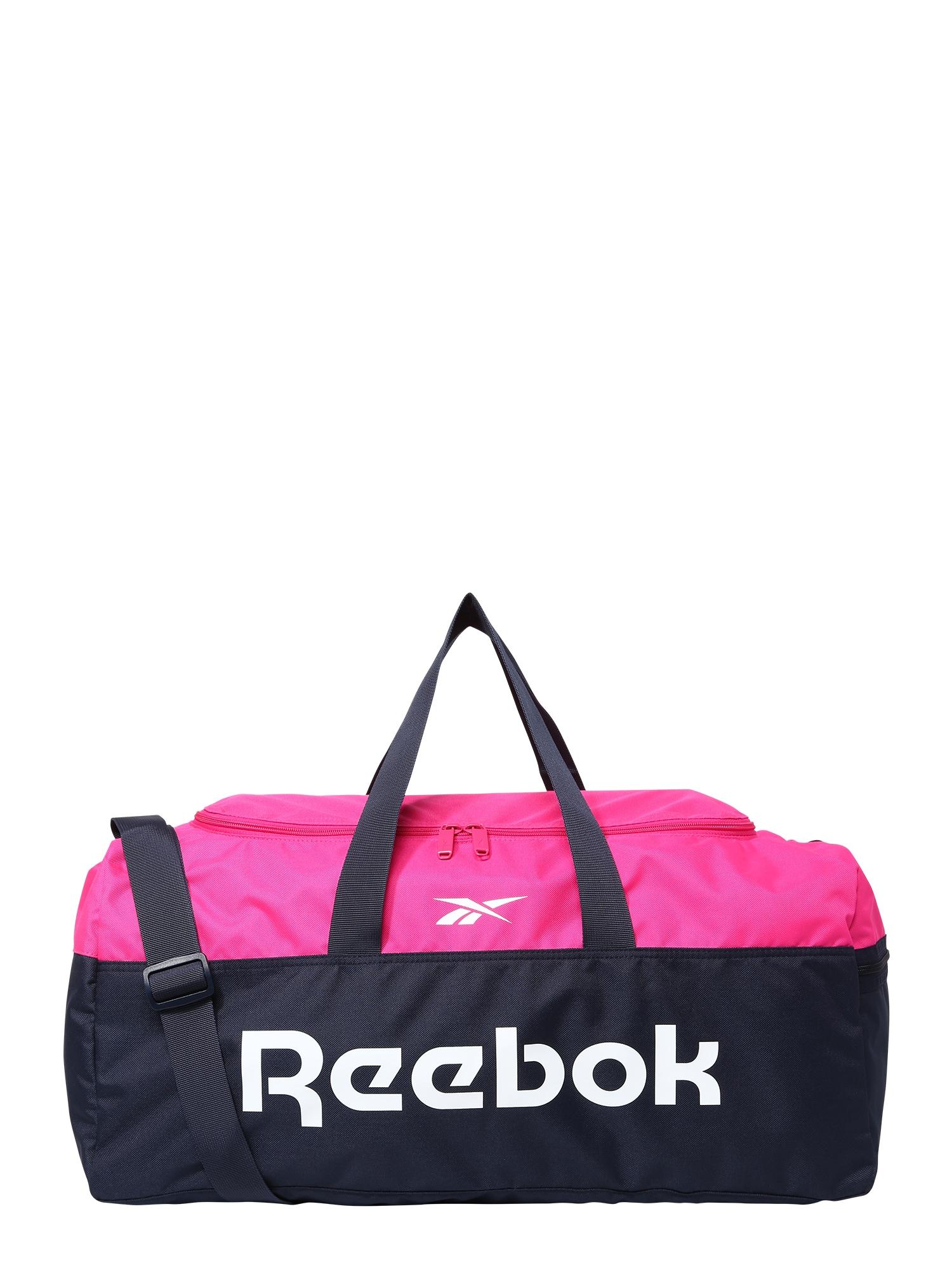 REEBOK Sportovní taška  pink / bílá / noční modrá