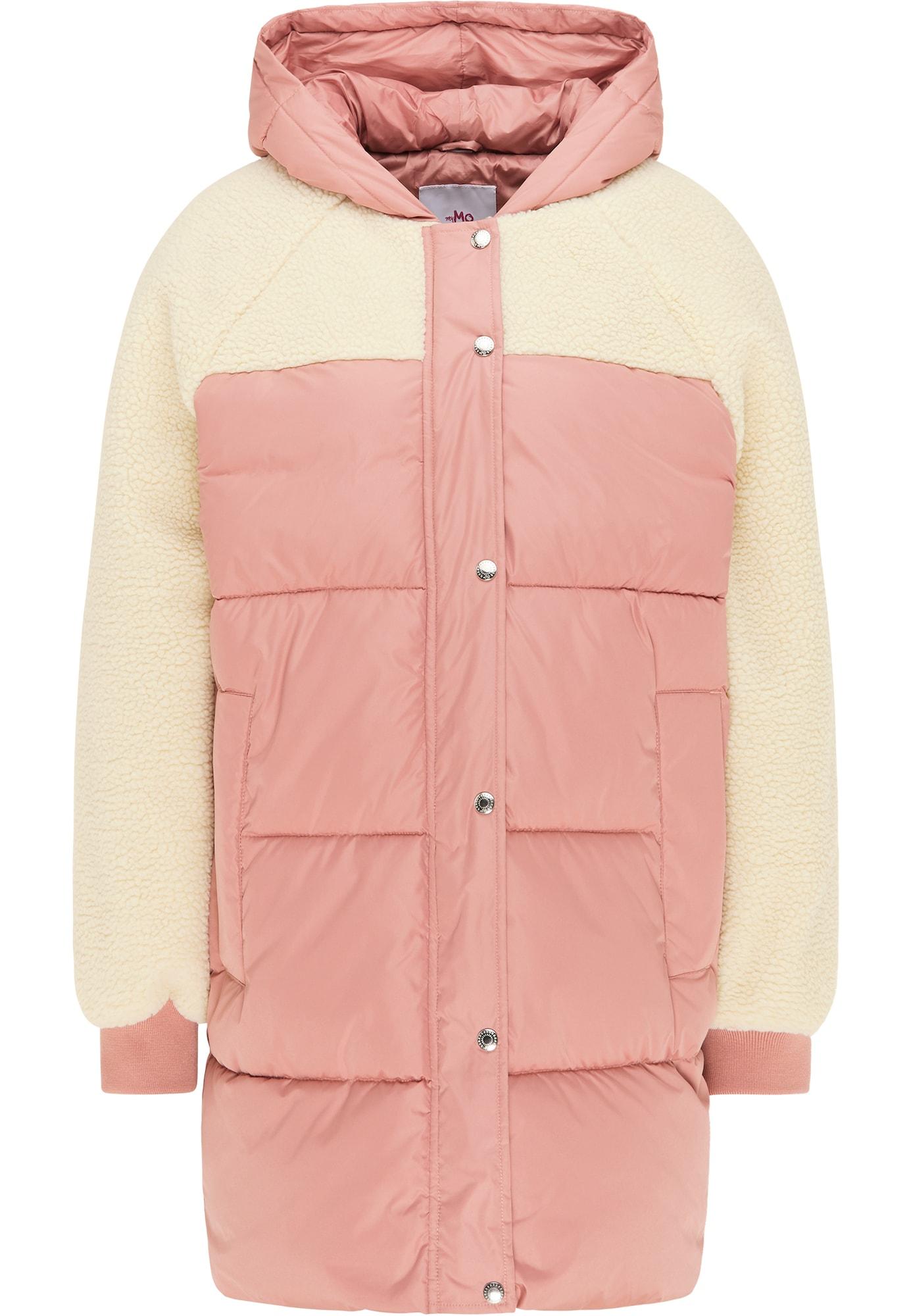 MYMO Žieminis paltas balta / rožinė