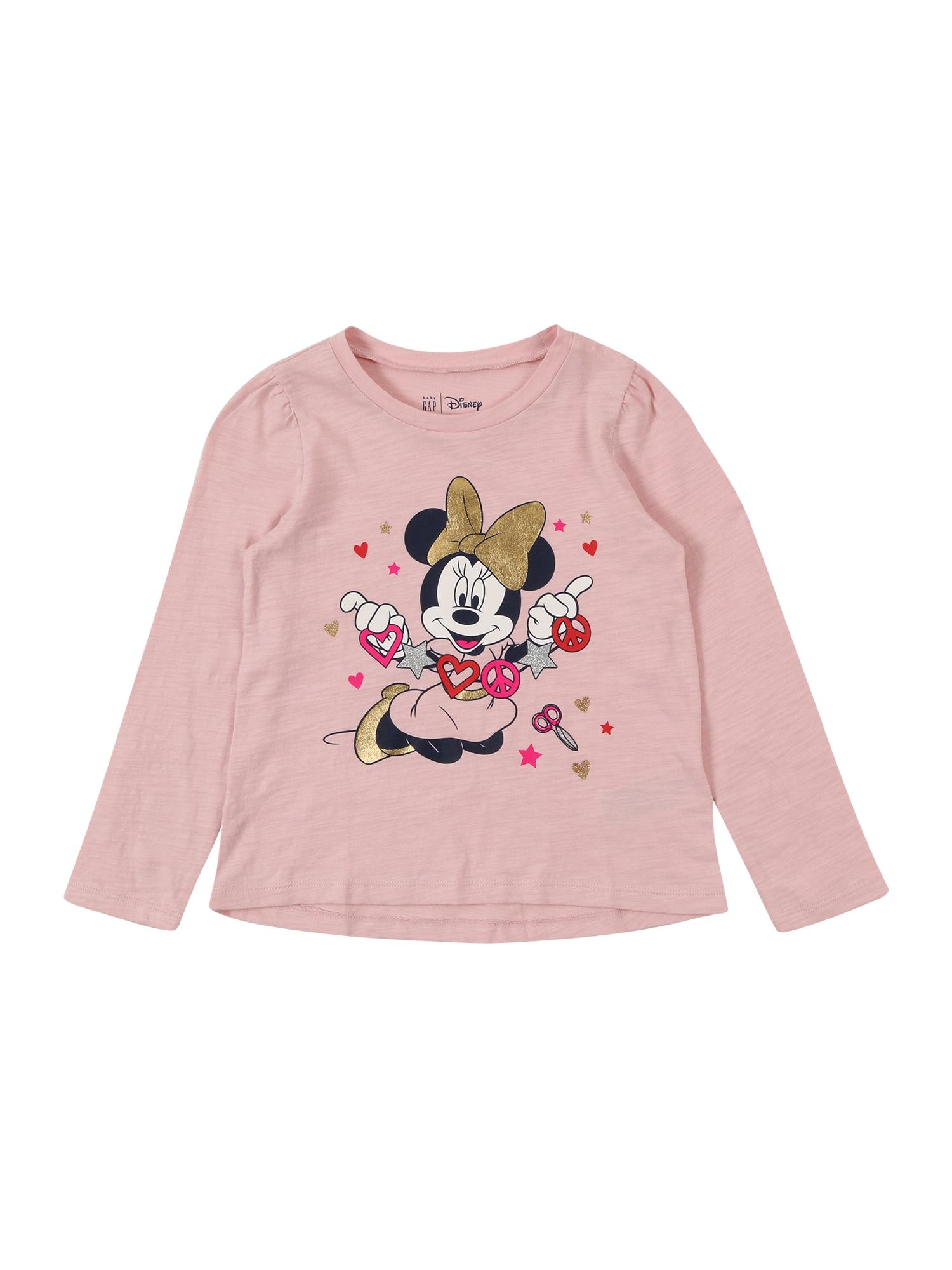 GAP Marškinėliai rožinė / rožių spalva / juoda / balta / auksas