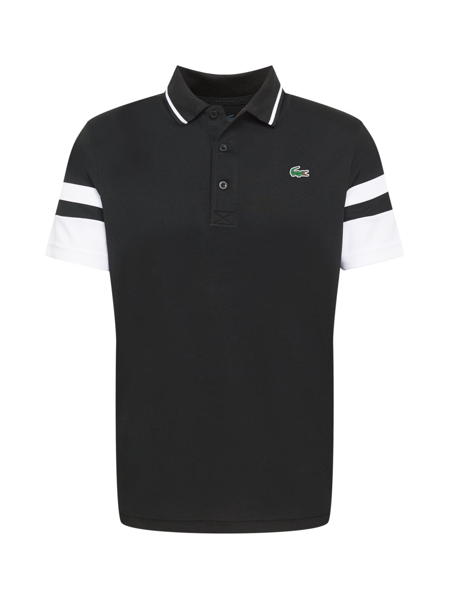 Lacoste Sport Marškinėliai balta / juoda / žalia / raudona