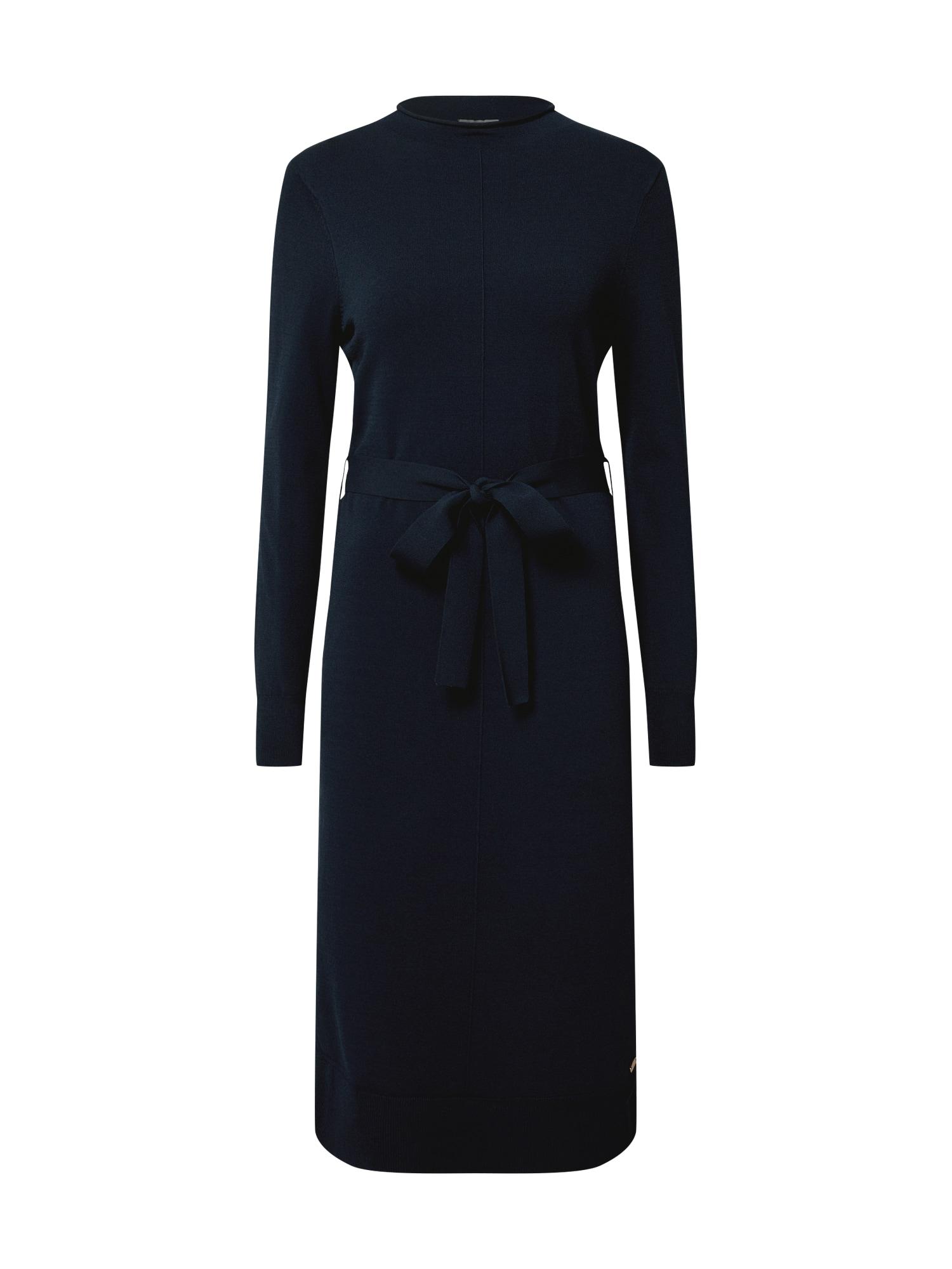 MINE TO FIVE Megzta suknelė tamsiai mėlyna