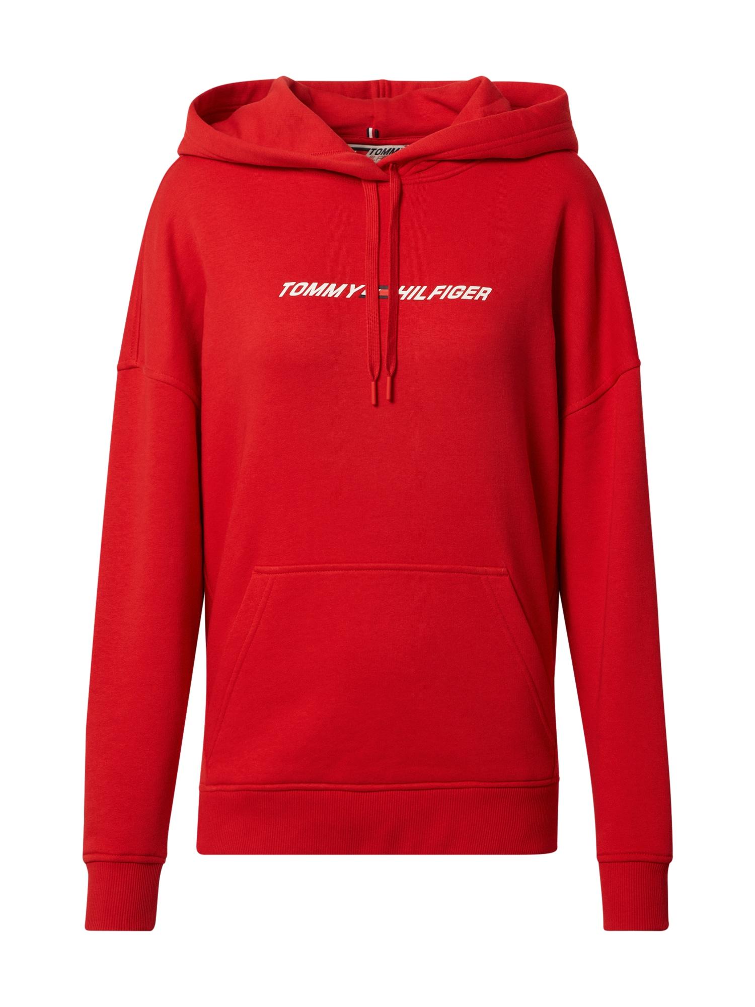 Tommy Sport Sportinio tipo megztinis raudona / balta