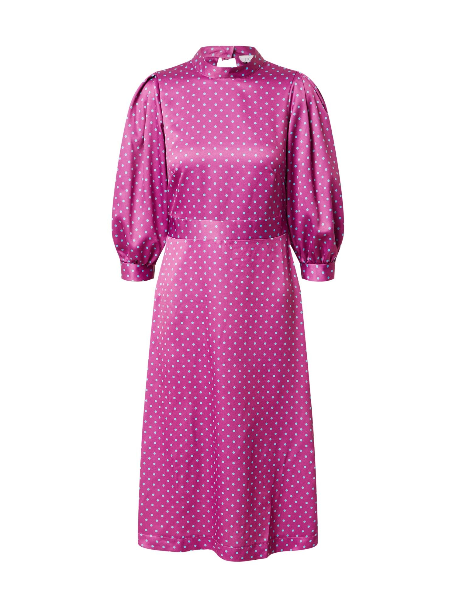 Closet London Kokteilinė suknelė fuksijų spalva / šviesiai mėlyna
