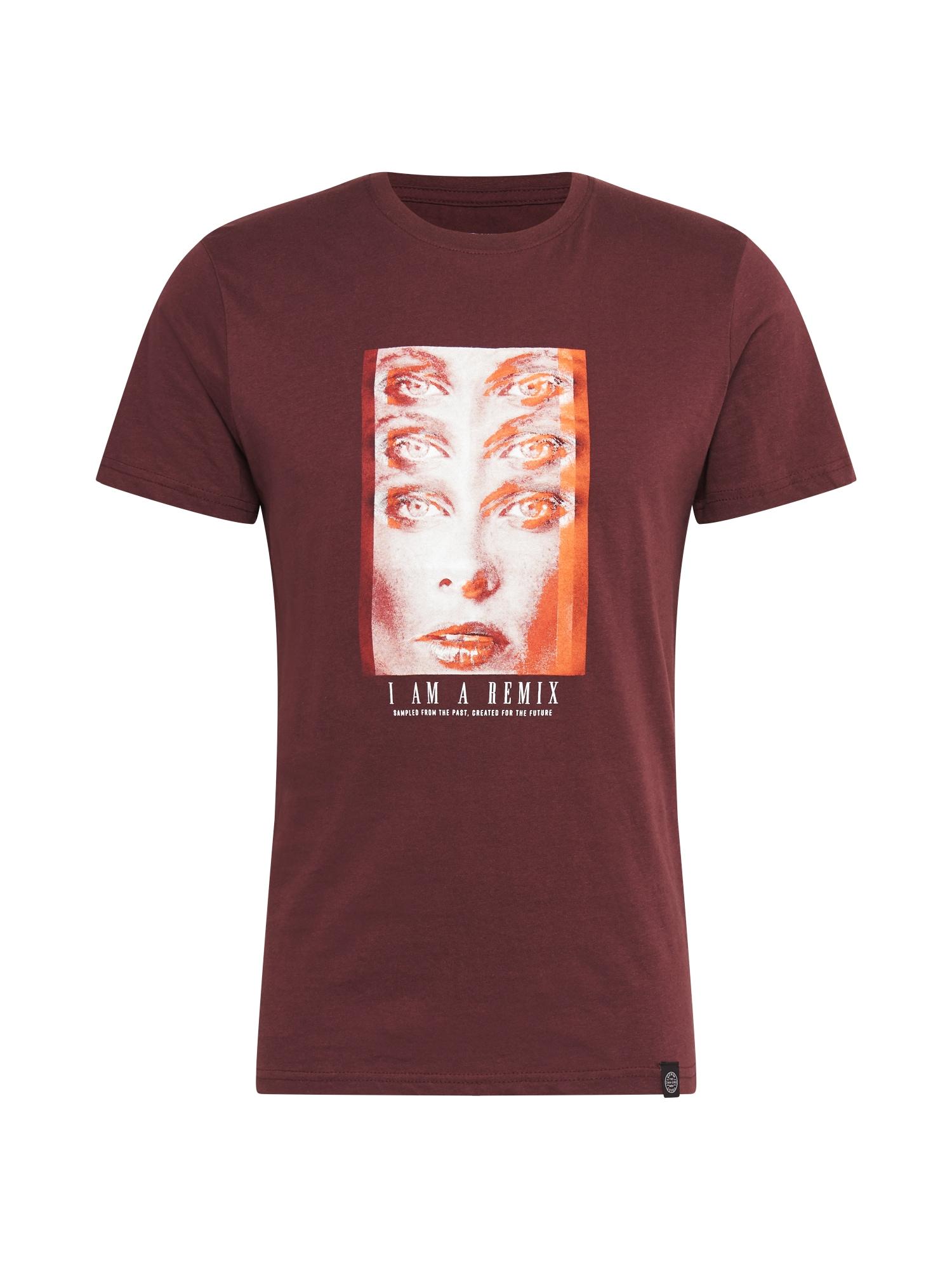 SHINE ORIGINAL Tričko  pastelově červená / tmavě oranžová / béžová