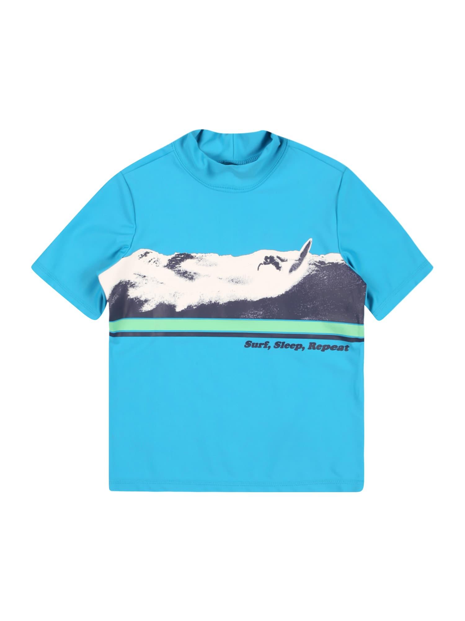 OshKosh Marškinėliai šviesiai mėlyna / šviesiai žalia / grafito / balta